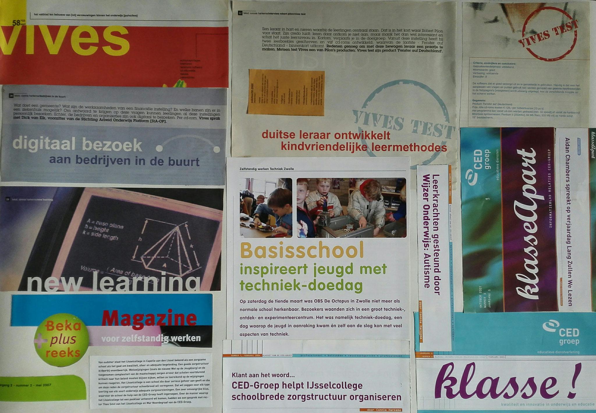 een samenstelling van stukjes tekst uit:  Beka Plus reeks magazine, Klasse!, KlasseApart en Vives. De bijbehorende haiku luidt als volgt: Het nieuwe leren  - Inspiratie door te doen - Een klasse apart