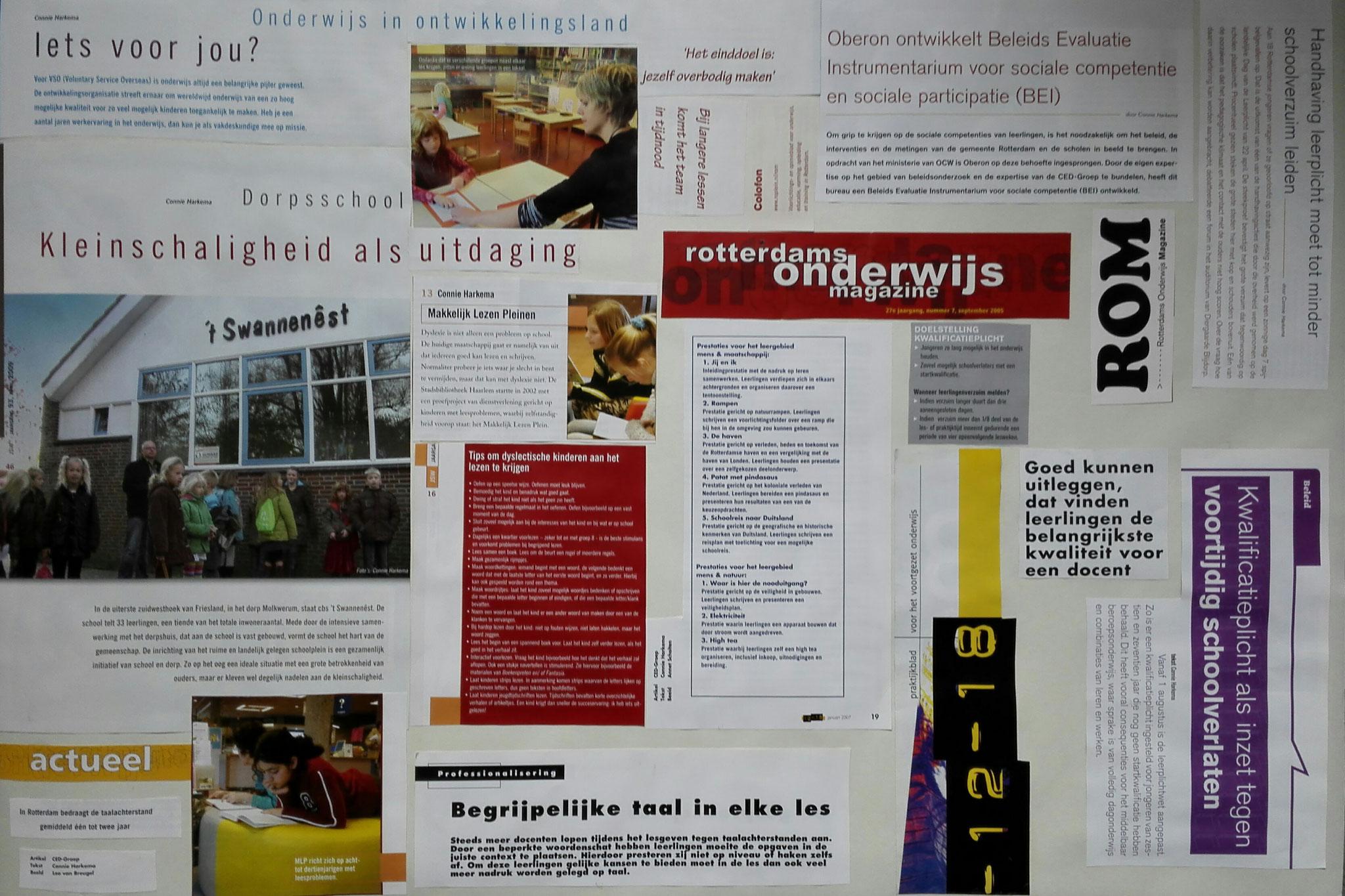 een samenstelling van stukjes tekst uit:  Rotterdams Onderwijs Magazine, Schoolmediatheek en Van Twaalf tot Achttien.  De bijbehorende haiku luidt als volgt: Een slechte uitleg - Dyslexie taalachterstand - Heel begrijpelijk