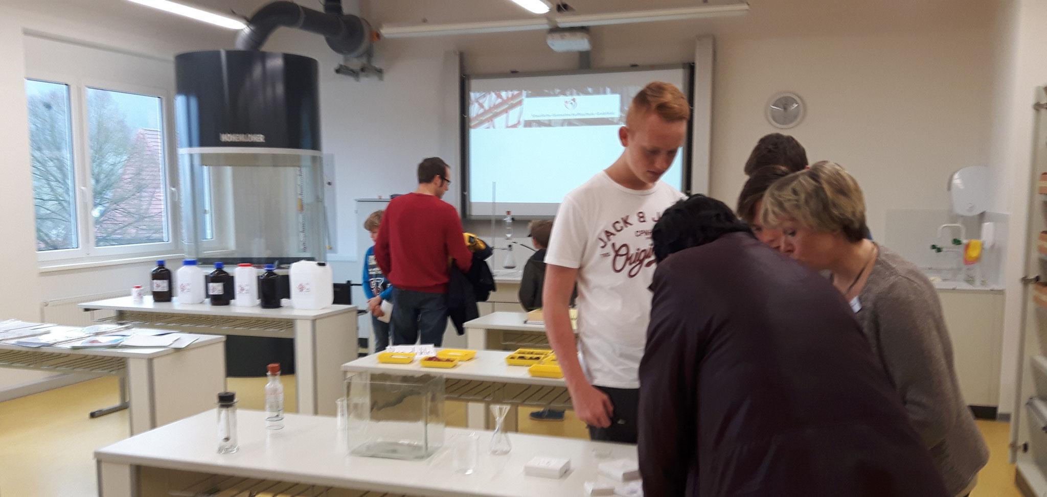 Inhalte des Chemieunterrichtes wurden (wie in allen anderen Fächer auch) durch die Schüler präsentiert.