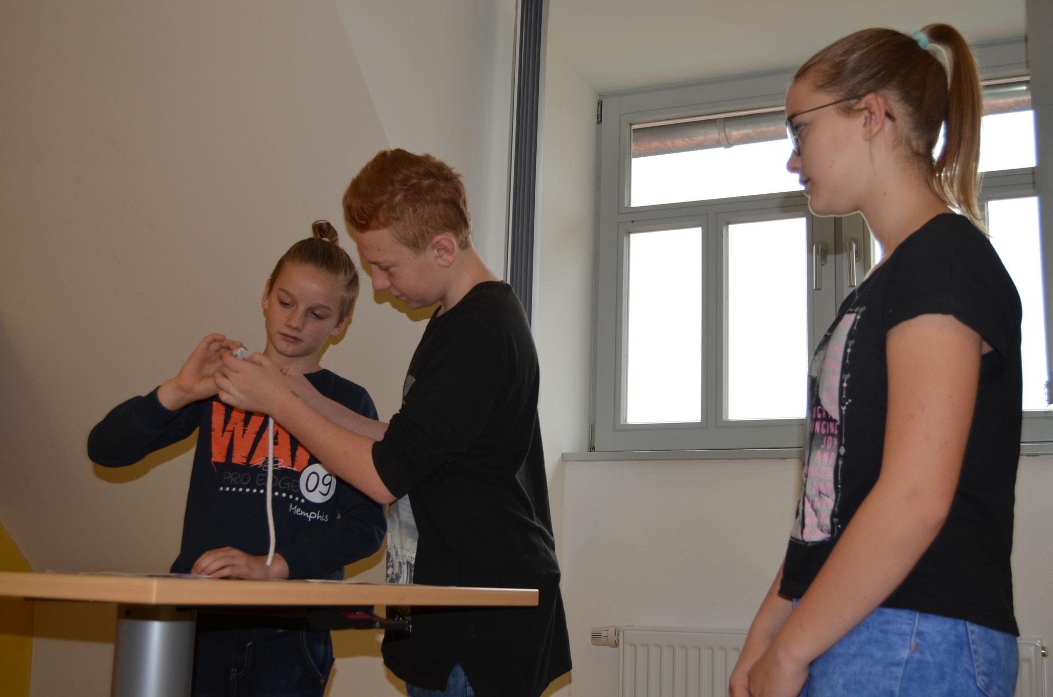 Jeder Schüler war klassenstufenübergreifend in ein Fach eingebunden.
