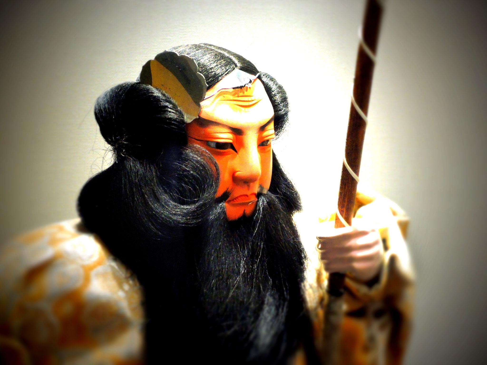 Japanische Samurai-Figur, wie sie anlässlich des Knabenfests (jährlich am 5. Mai) verschenkt wird