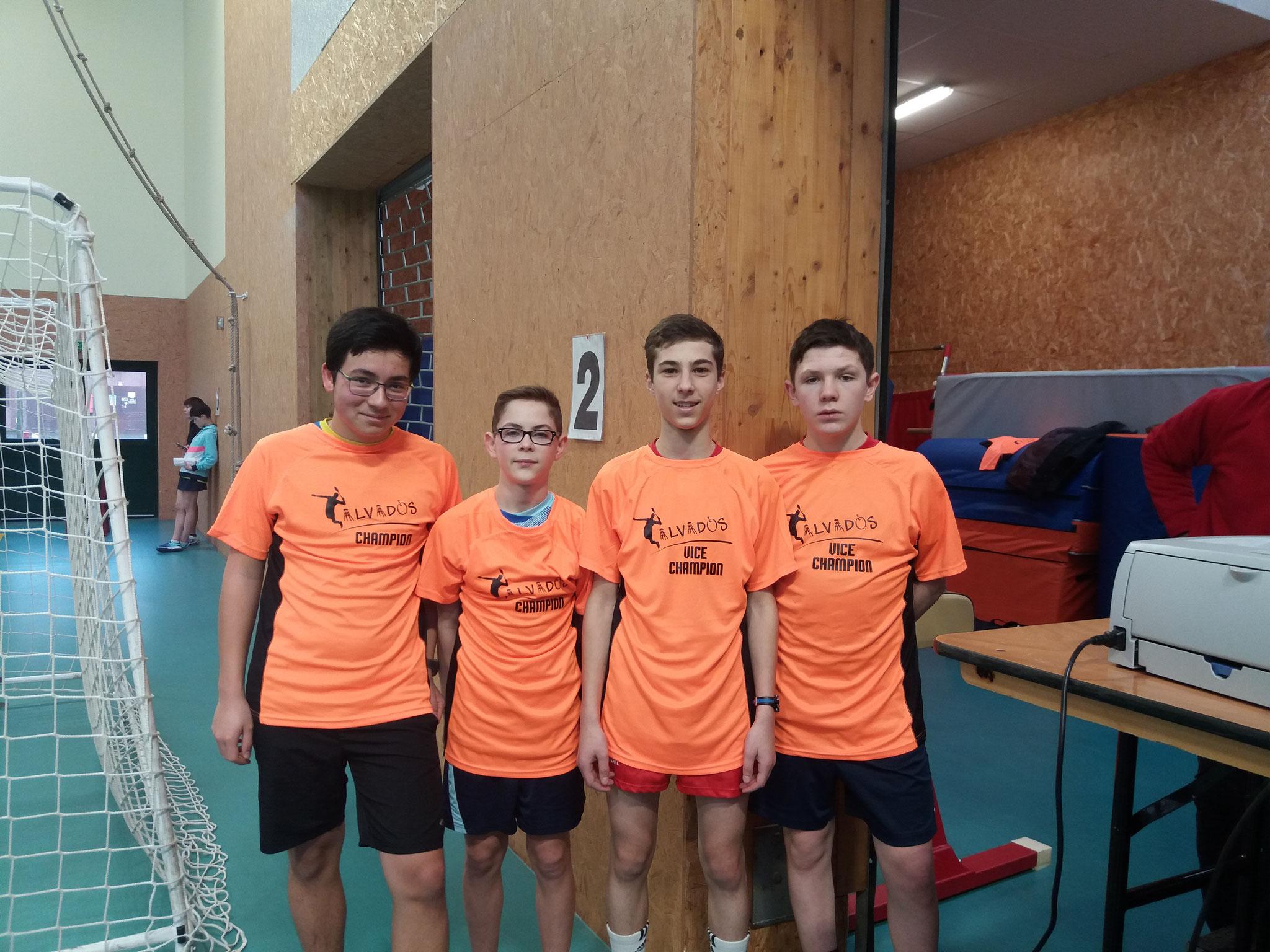 Nos 2 Champions : Thomas/Hippolyte et leurs adversaires falaisiens