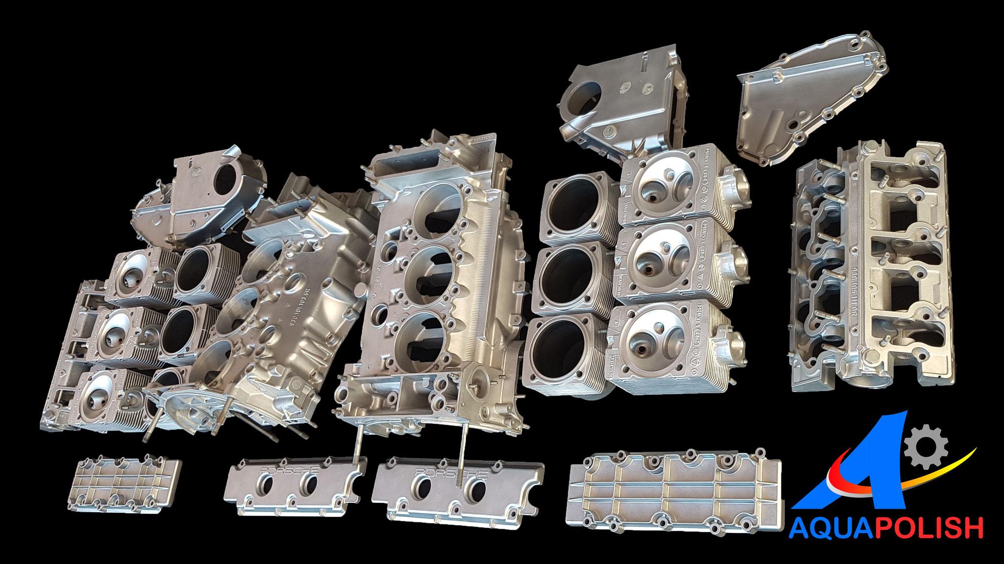 microbillage moteur Porsche 911