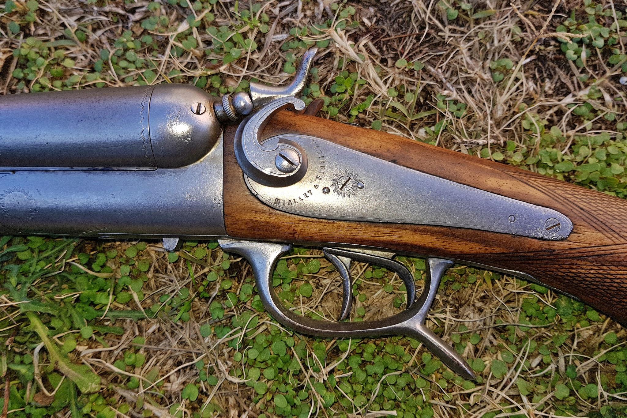 microbillage vieux fusil de chasse