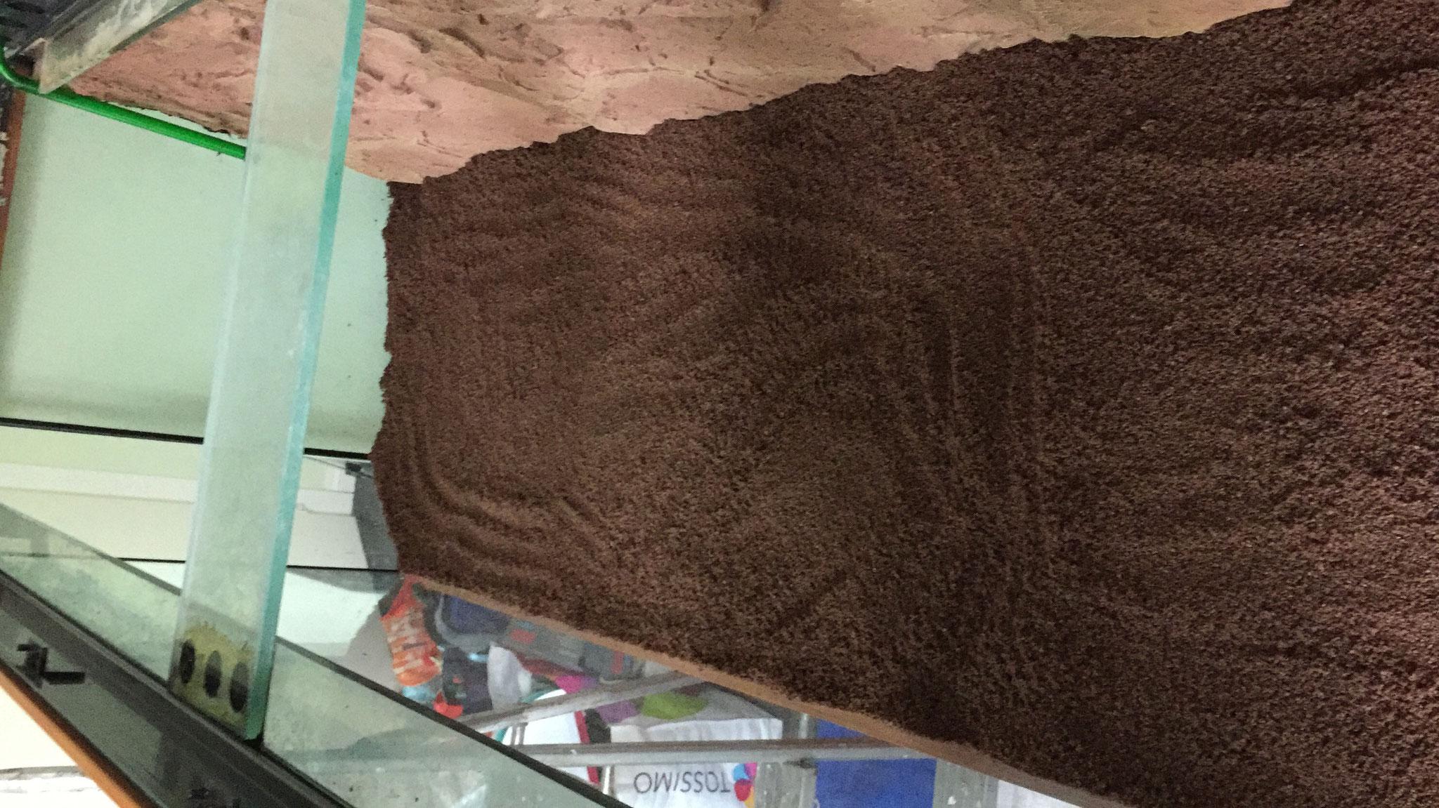 Insgesamt 130kg Bodengrund wurden verwendet.