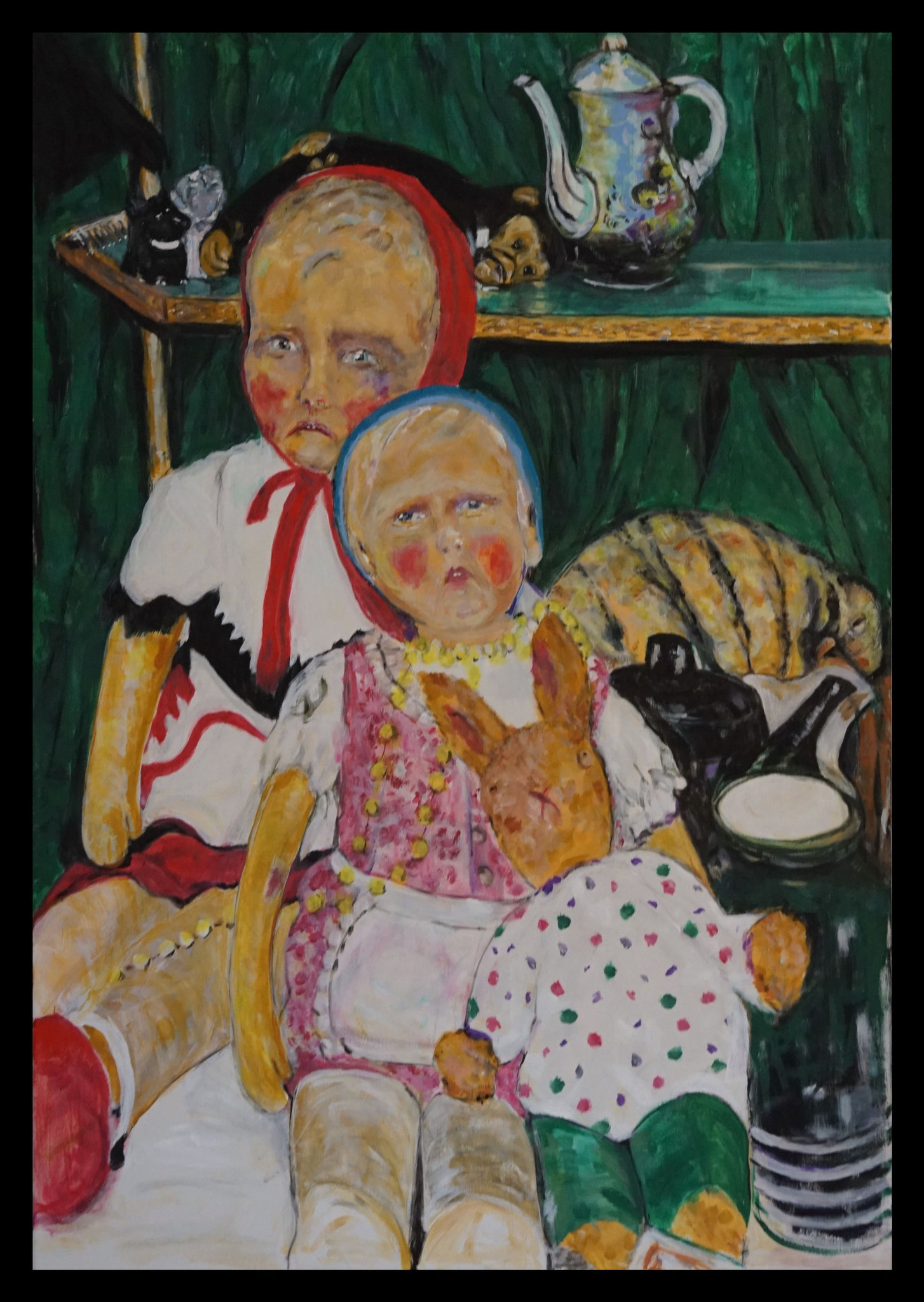 Rotbäckchen, Acryl, 2020, 70x100 cm