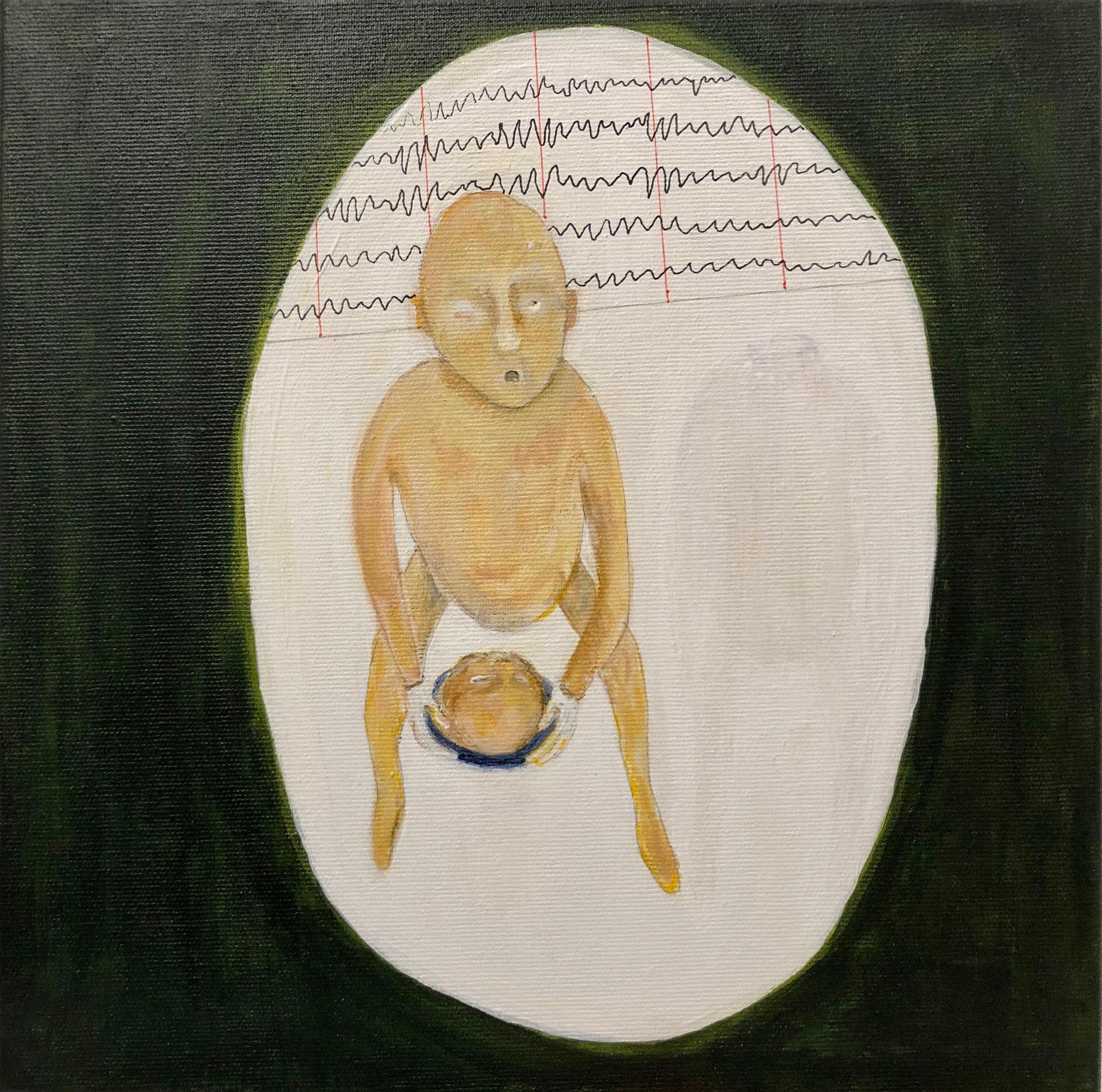 auf Händen tragen, Malerei, Acryl auf Leinwand, 2020