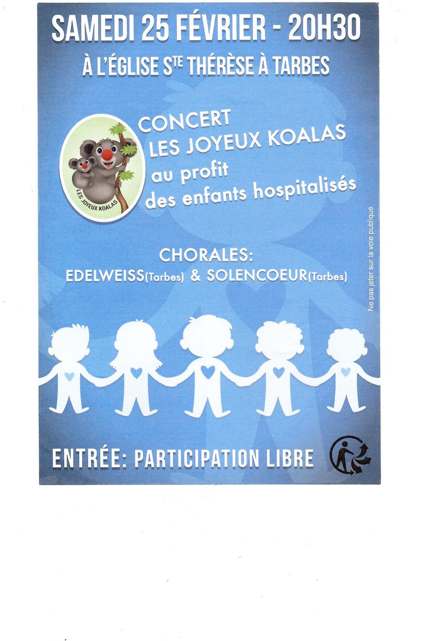 concert au profit de l'association Les Joyeux Koalas