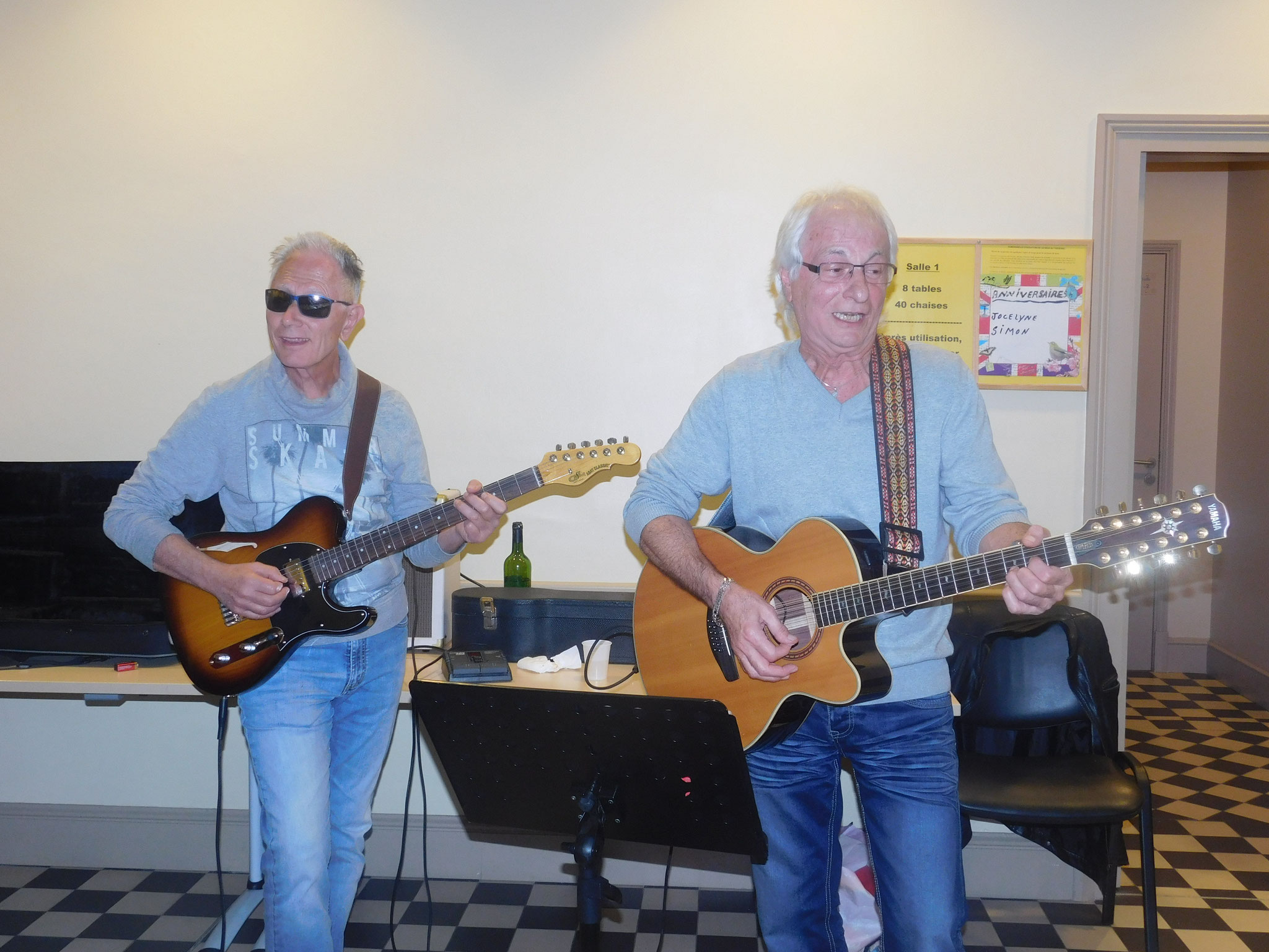 Nos guitaristes nous accompagnent