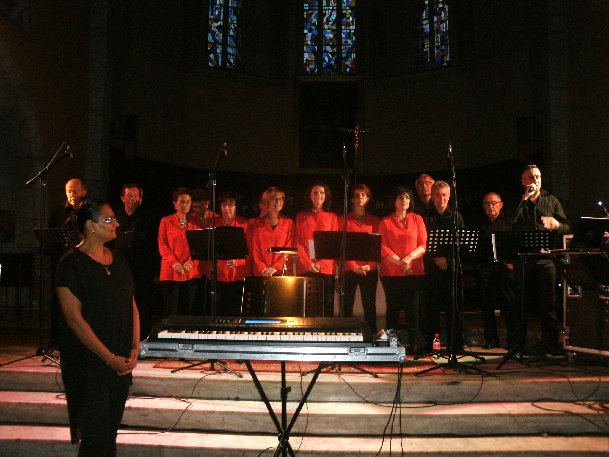 Nous avons chanté avec la chorale La Clef des Chants à l'Eglise Ste-Thérèse à Tarbes
