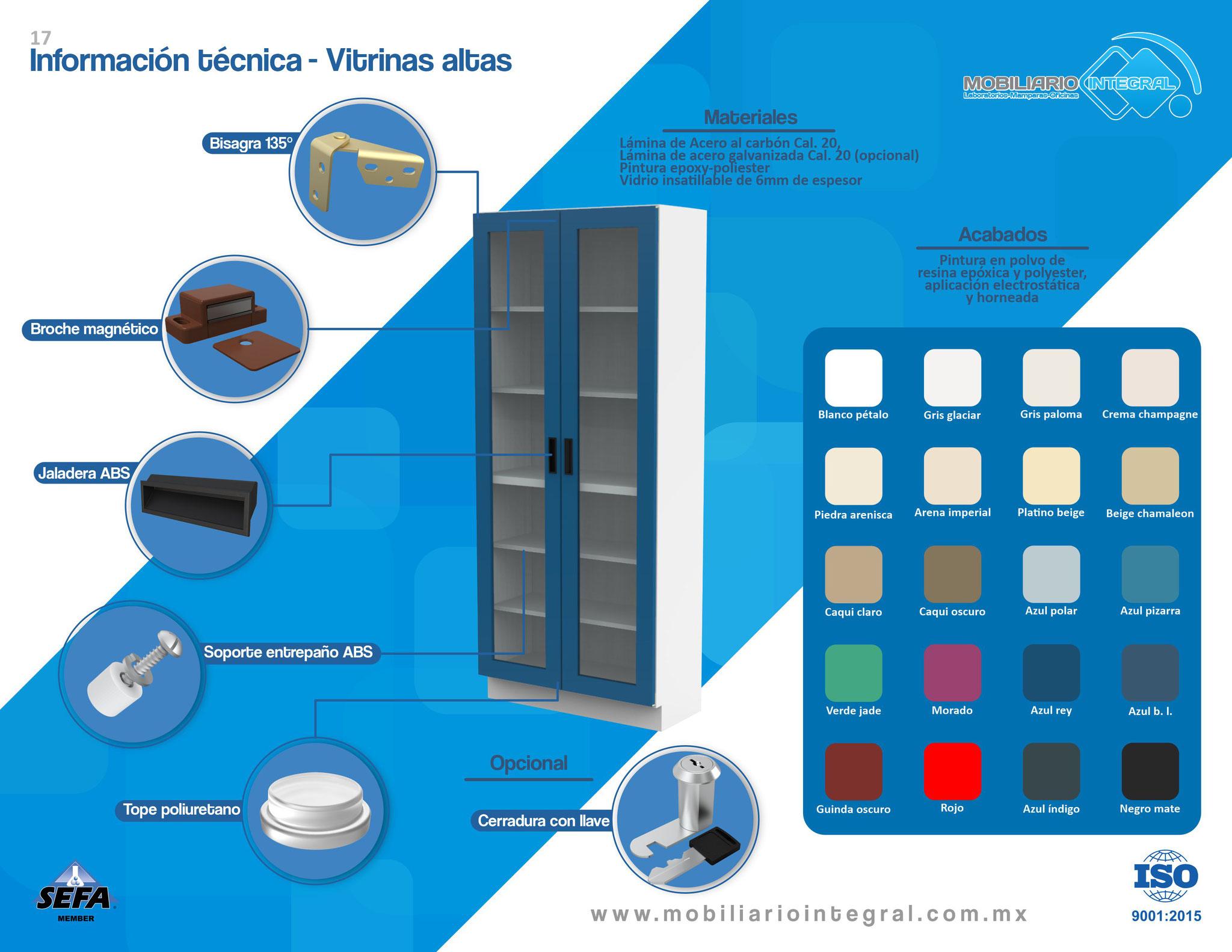 Vitrinas para laboratorio
