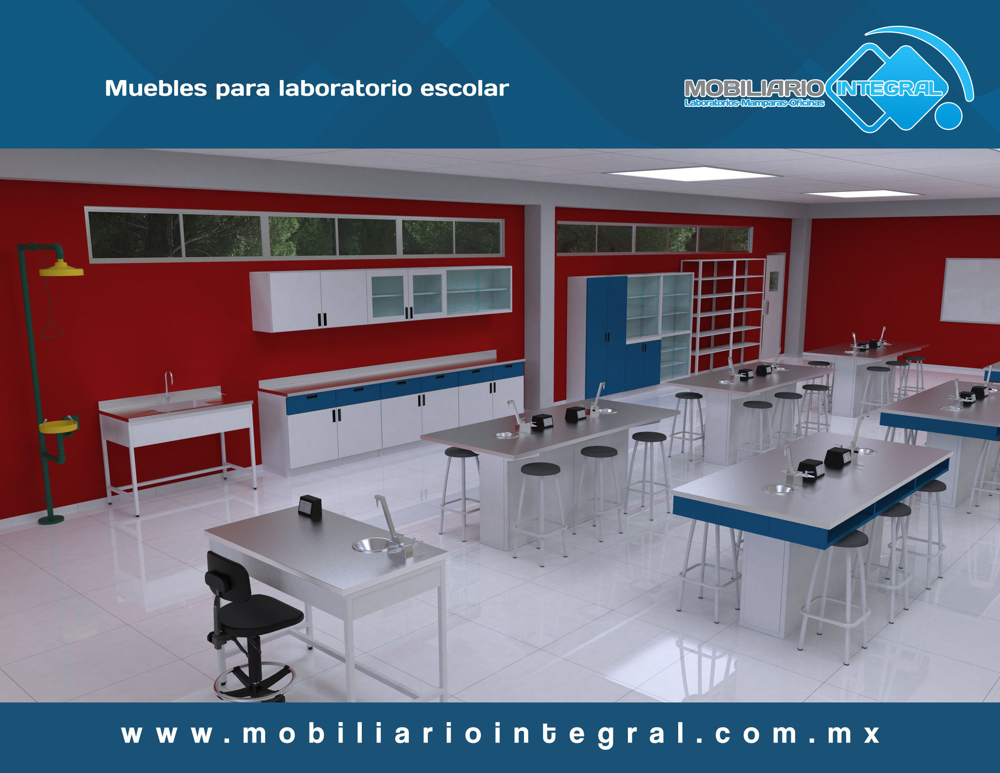 Muebles para laboratorio escolar Mexicali