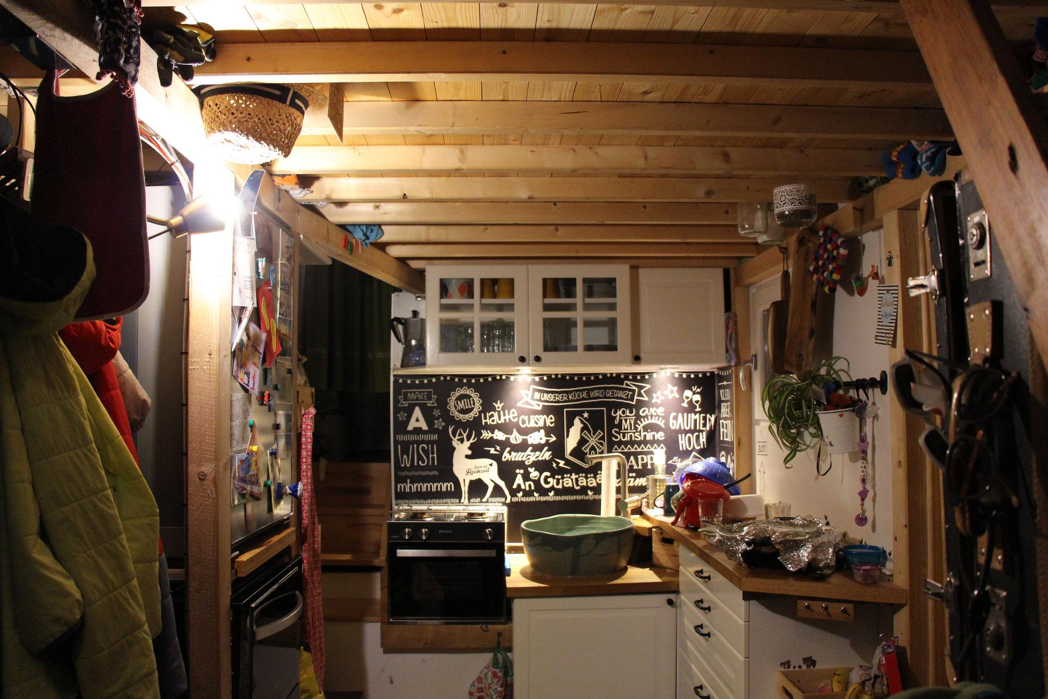 Zusätzliche Beleuchtung für den Küchenbereich