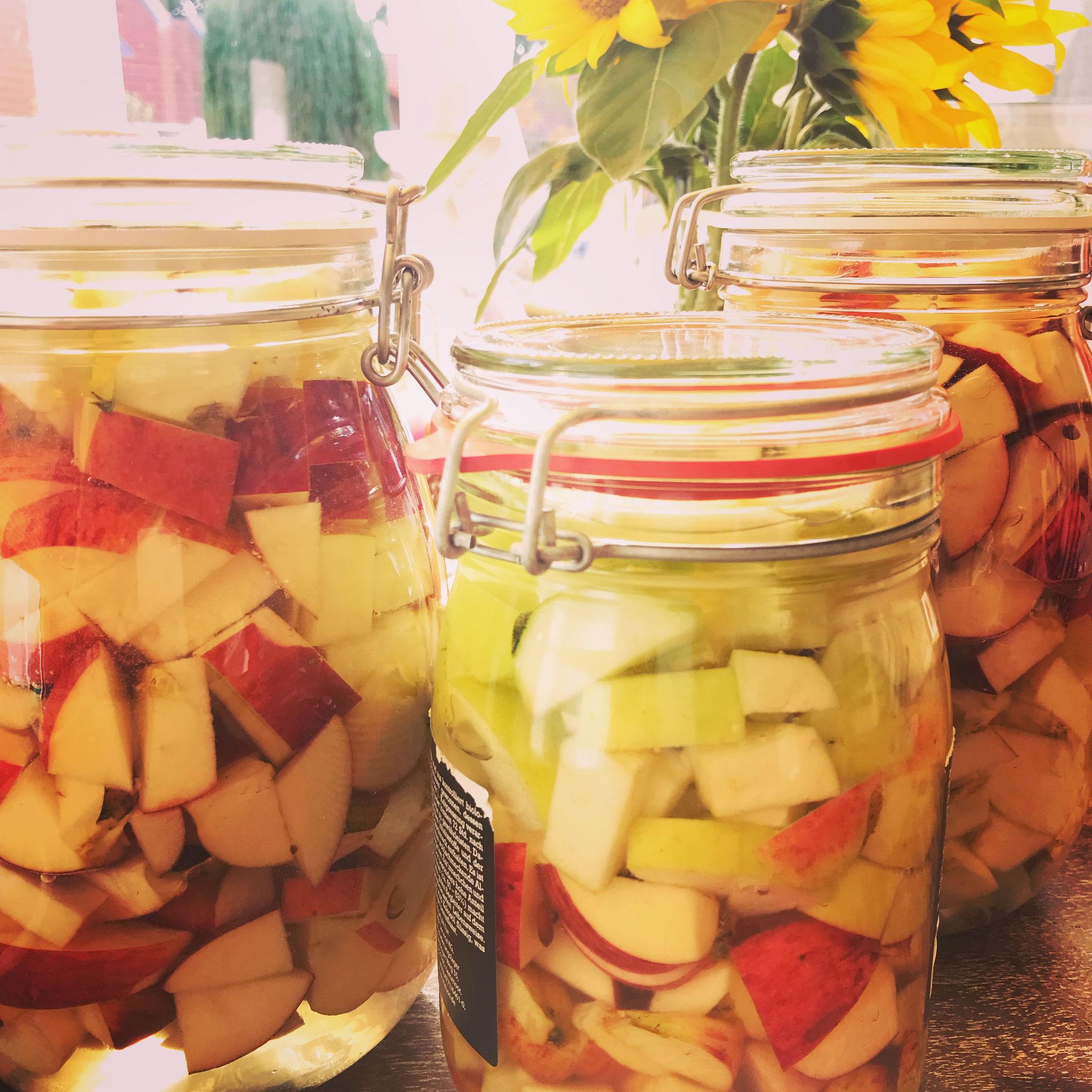 Apfelernte alte Sorten