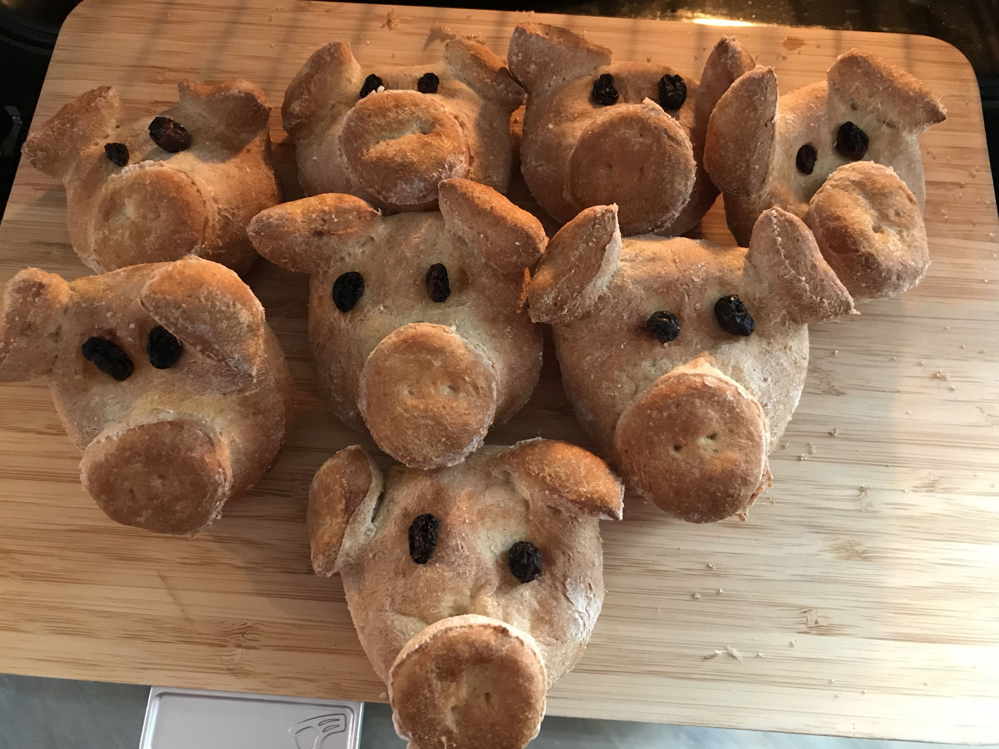 Neujahrs-Glücks-Schweinchen