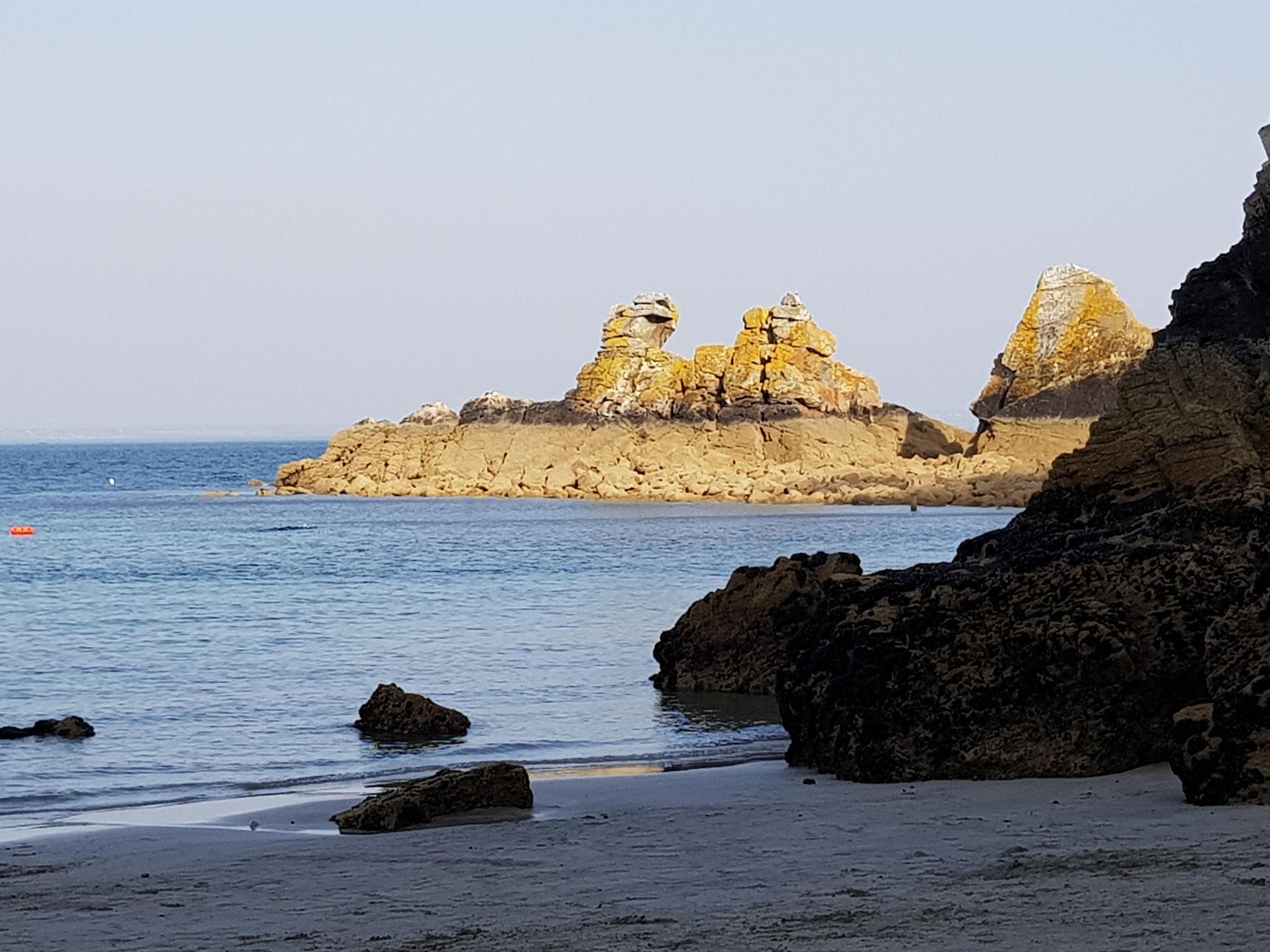 La pointe du Kador vue de la plage du Kador