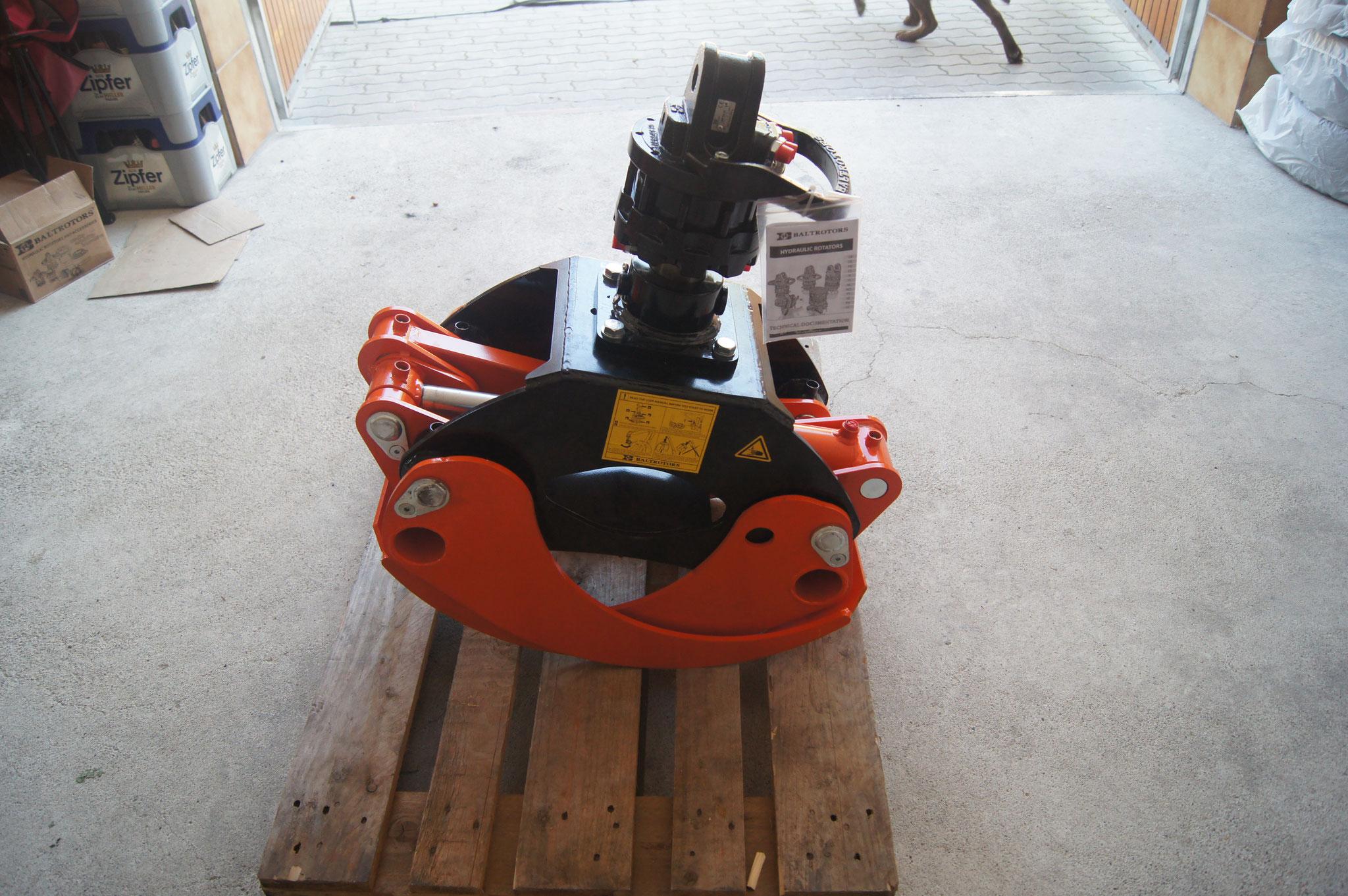 1210mm Öffnungsweite mit 3t Rotator