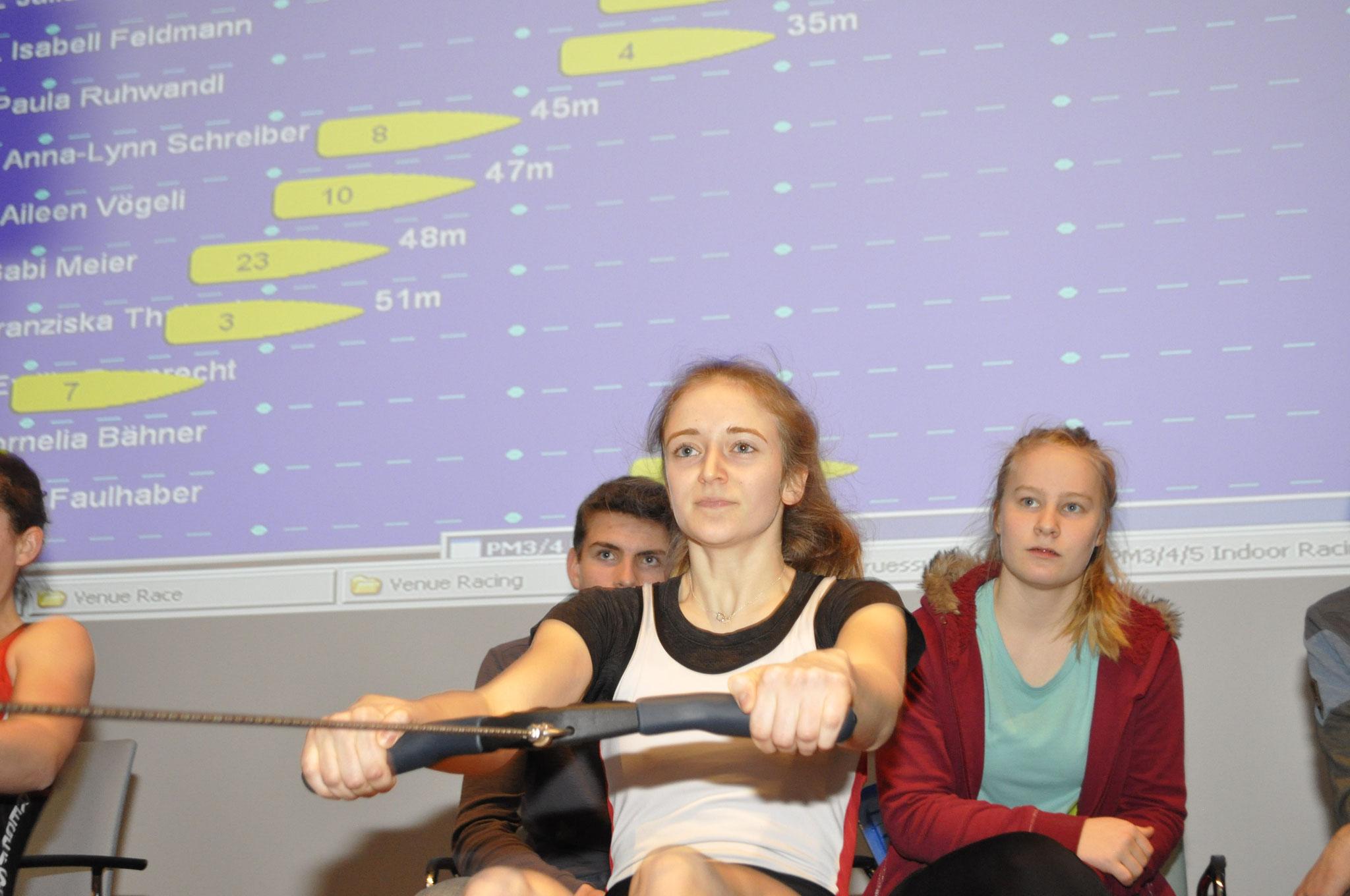 Ina Strohmaier mit Platz 5 bei den Junorinnen 17 18 J, Leichtgewicht