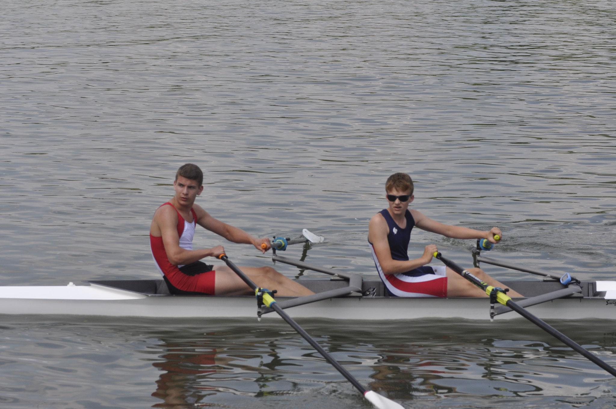2 Siege für die B Junioren S. Huber und J. Herpich
