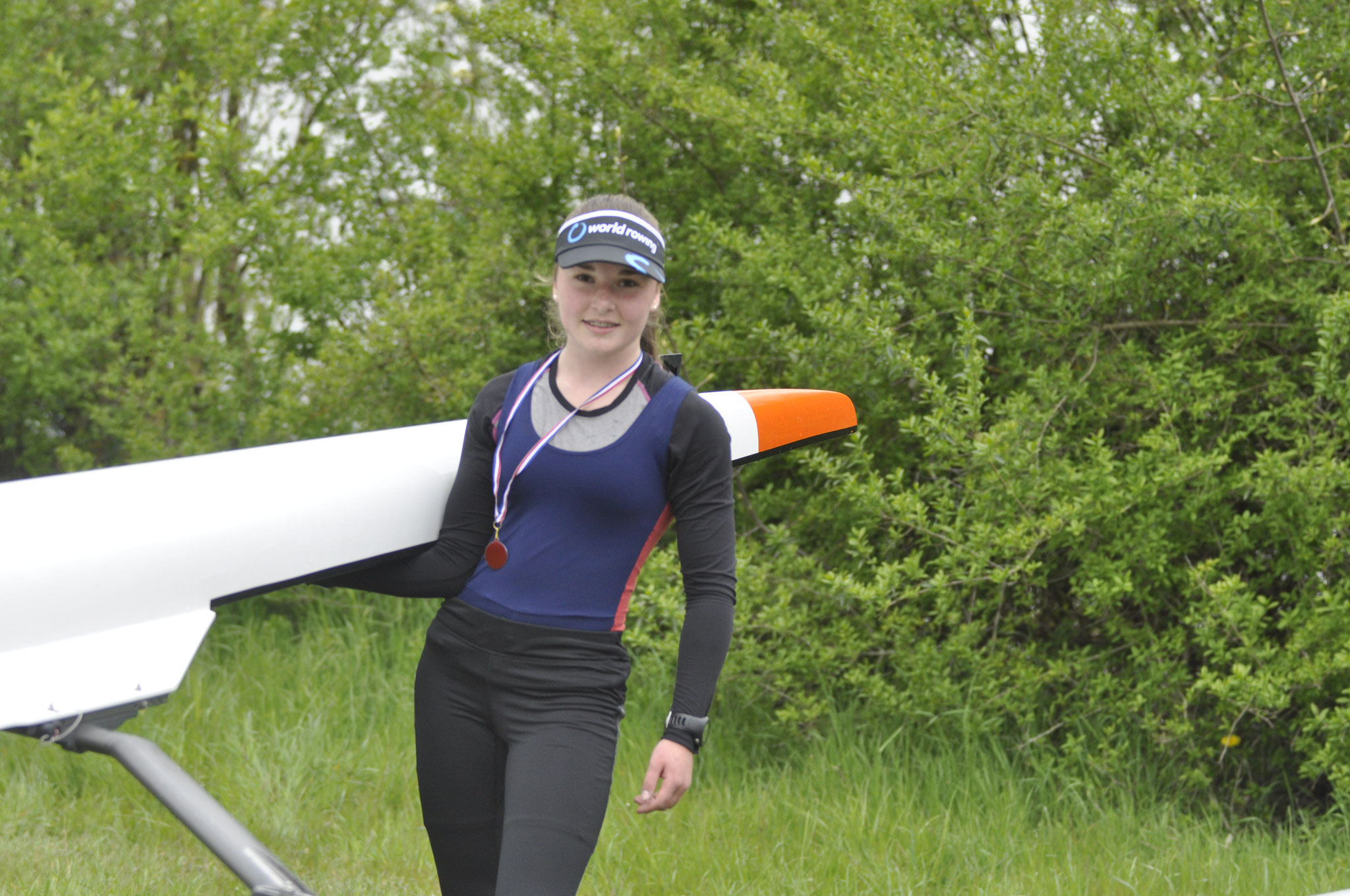 Karina Sebald an beiden Tagen im Einer erfolgreich