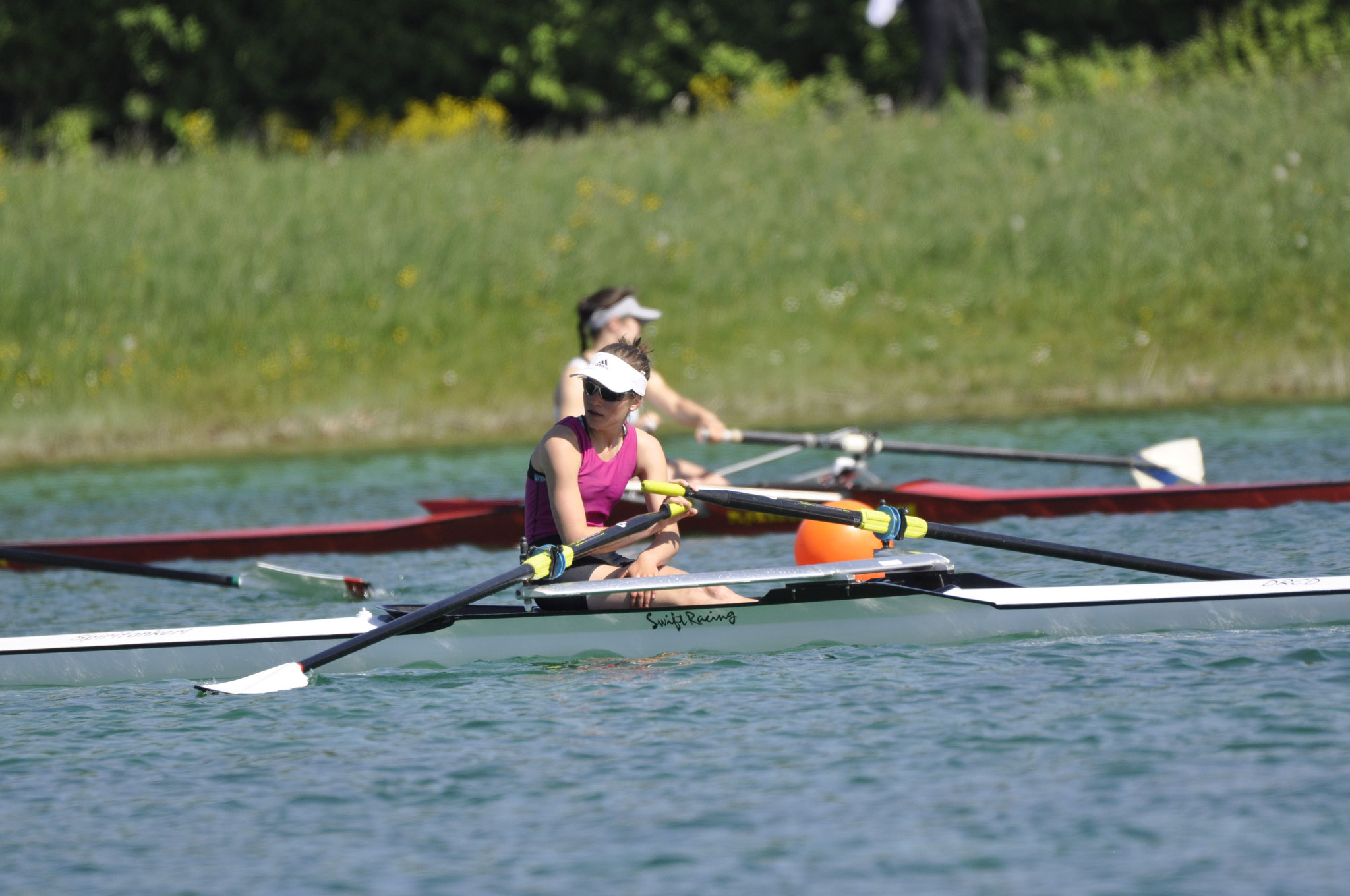 Laura Kerschl im Ziel