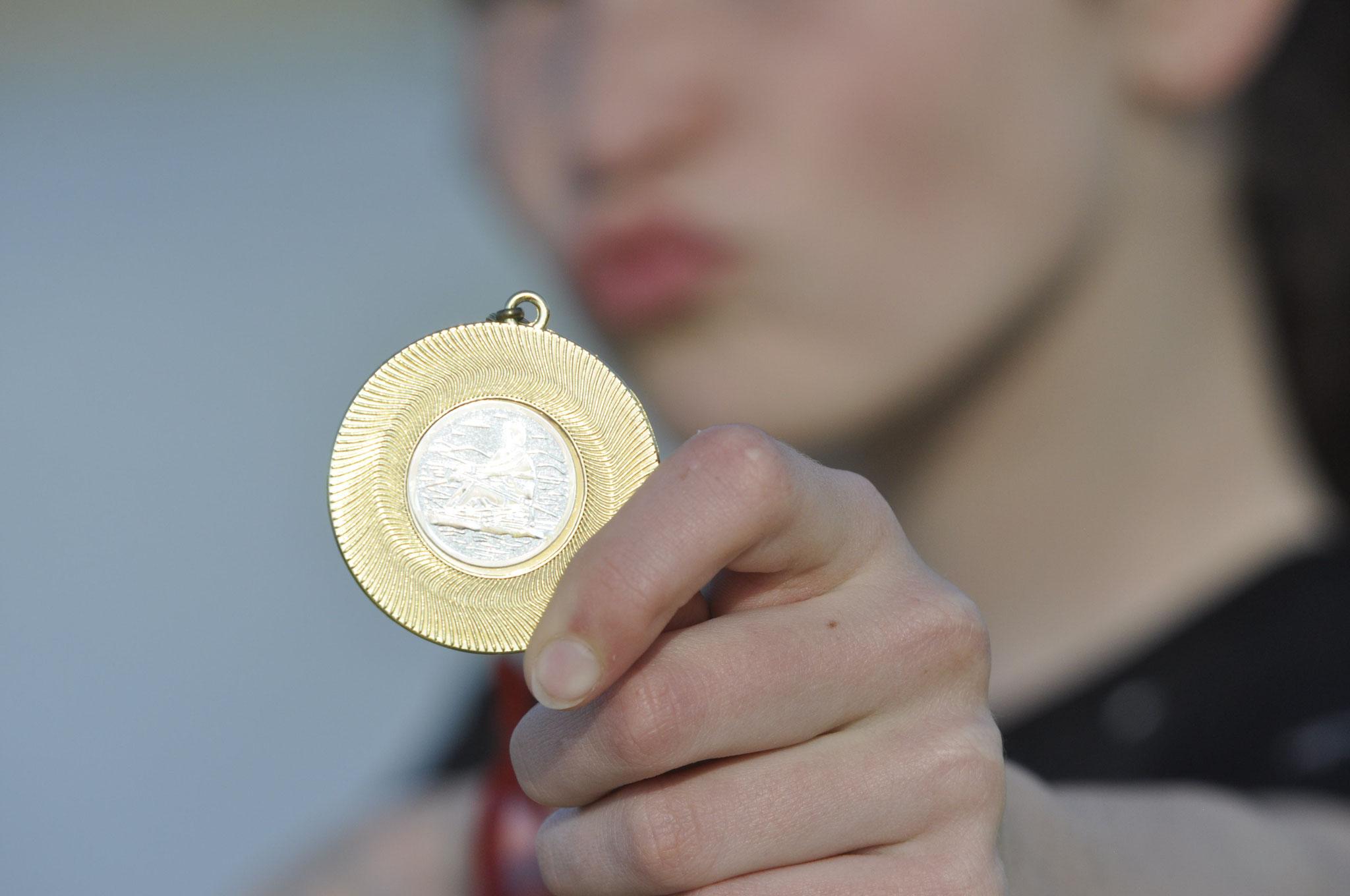 Medallie für Sina Fischer