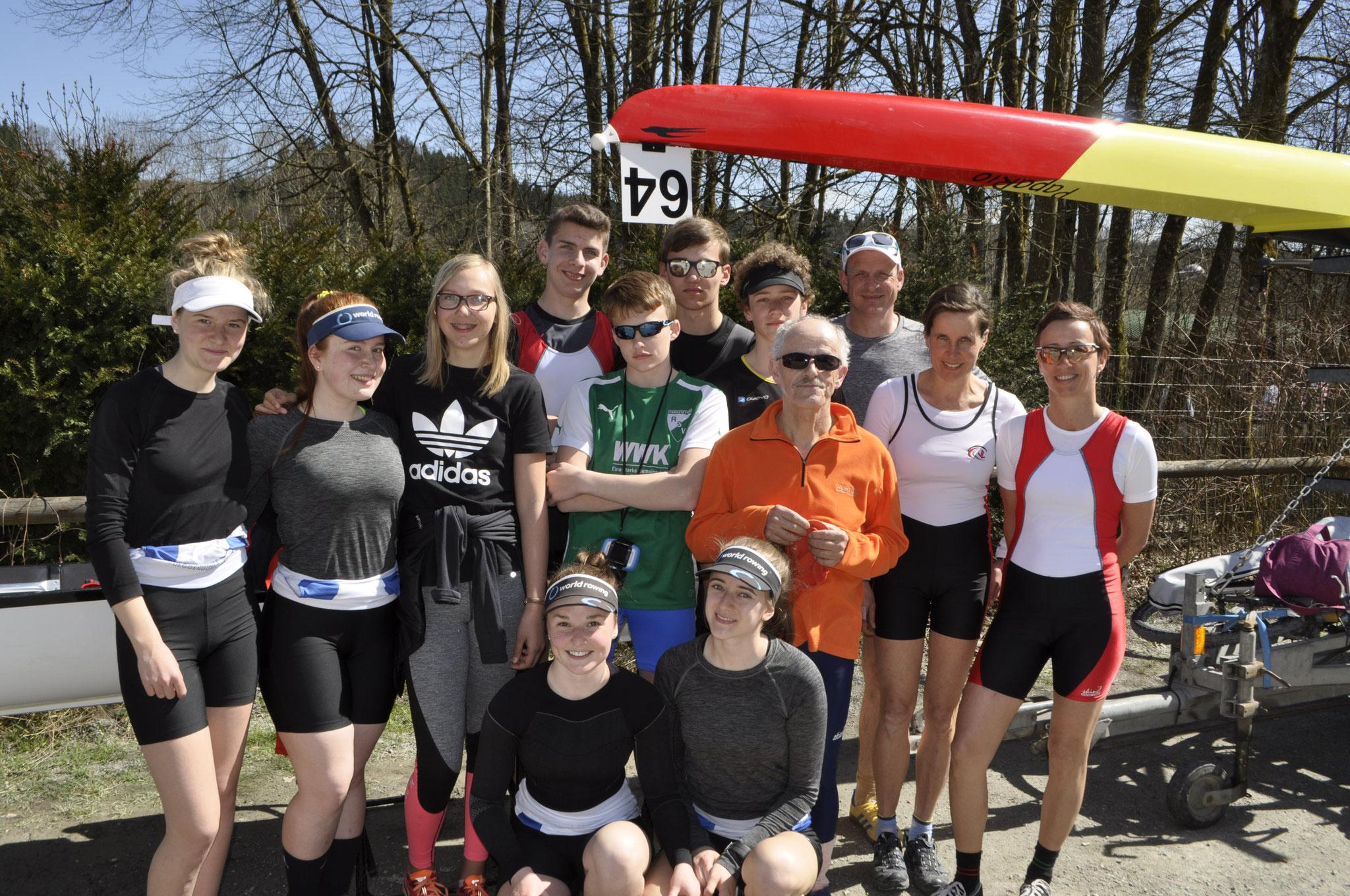 Mannschaft beim Inn River Race, 2te vr Vorsitzende Brigitte Bezold