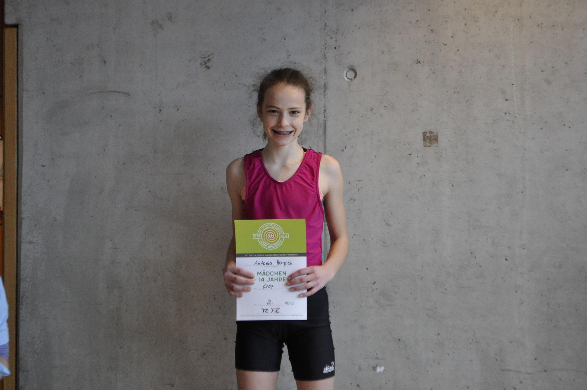 VItetitel für A. Herpich bei den Mädchen 13 14 J Leichtgewicht