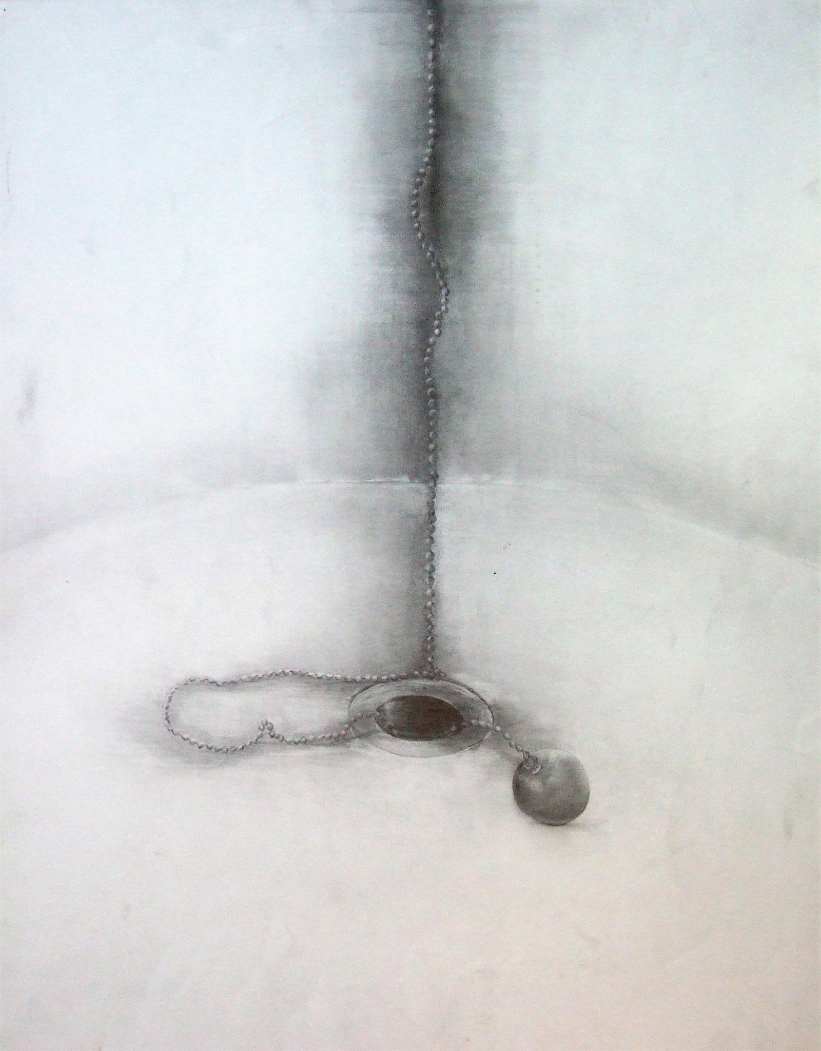 生徒作品26 鉛筆デッサン<イメージ構成> 木炭紙大 【油画系】