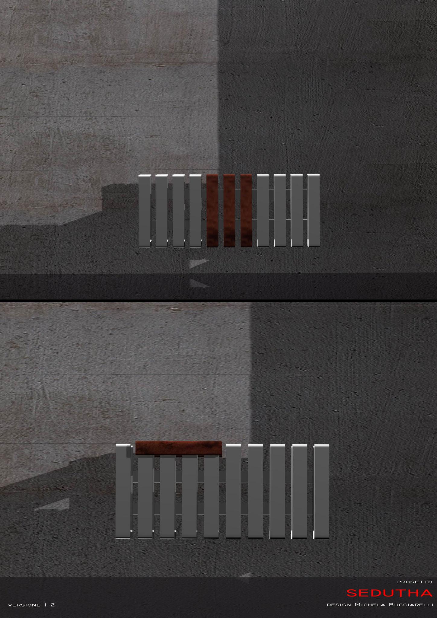 Sedutha - Studio radiatore seduta-scaldasalviette 2007 ADHOC Gruppo Ragaini   rendering.