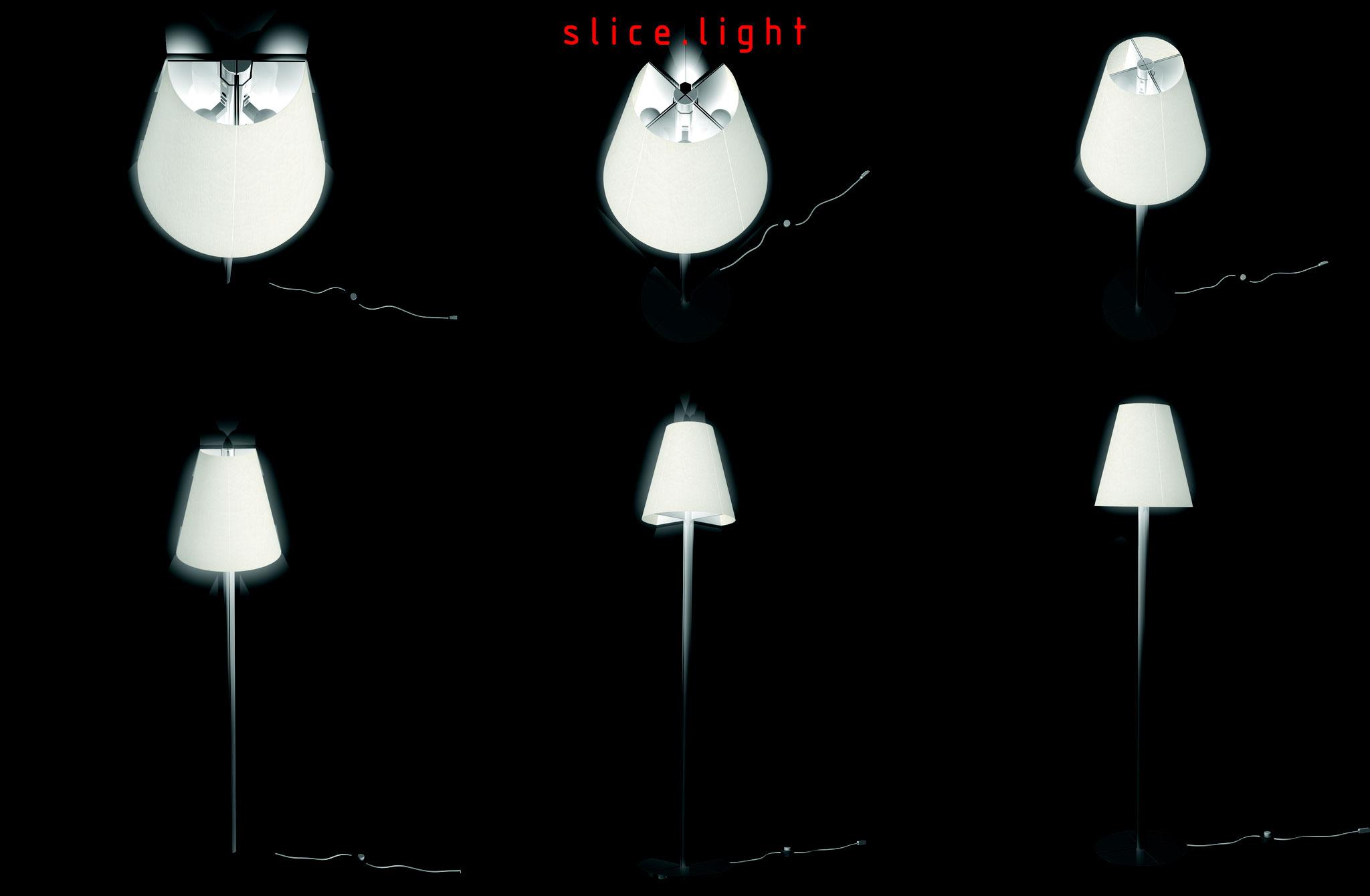 Slice Light - Coprogetto concorso Muji 2006   rendering.