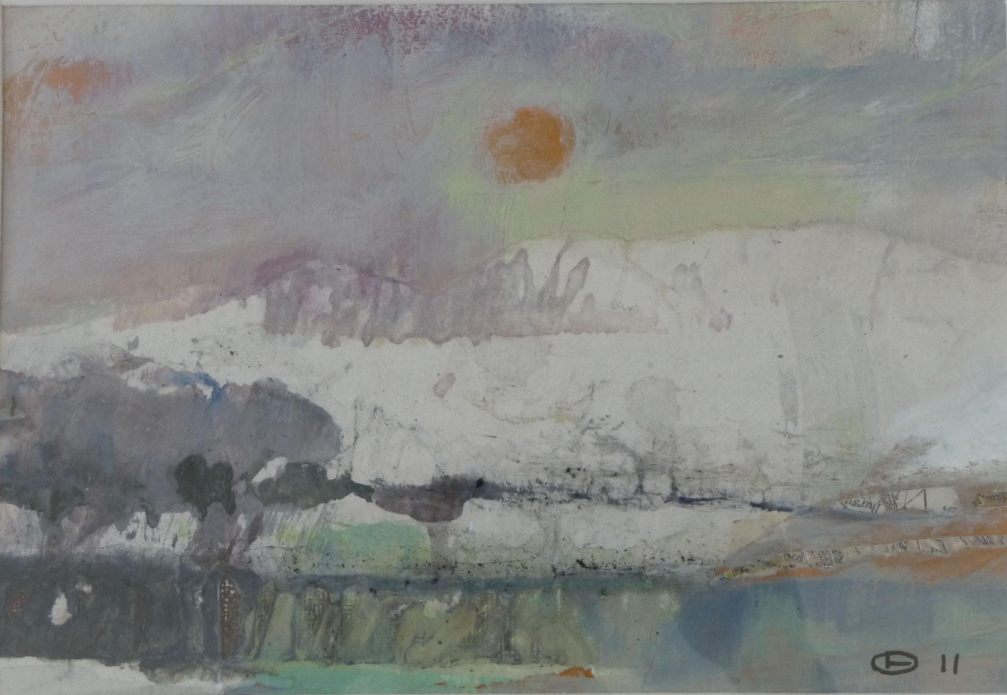 Sans titre   ---   2011 - Acrylique - 20 x 30 cm