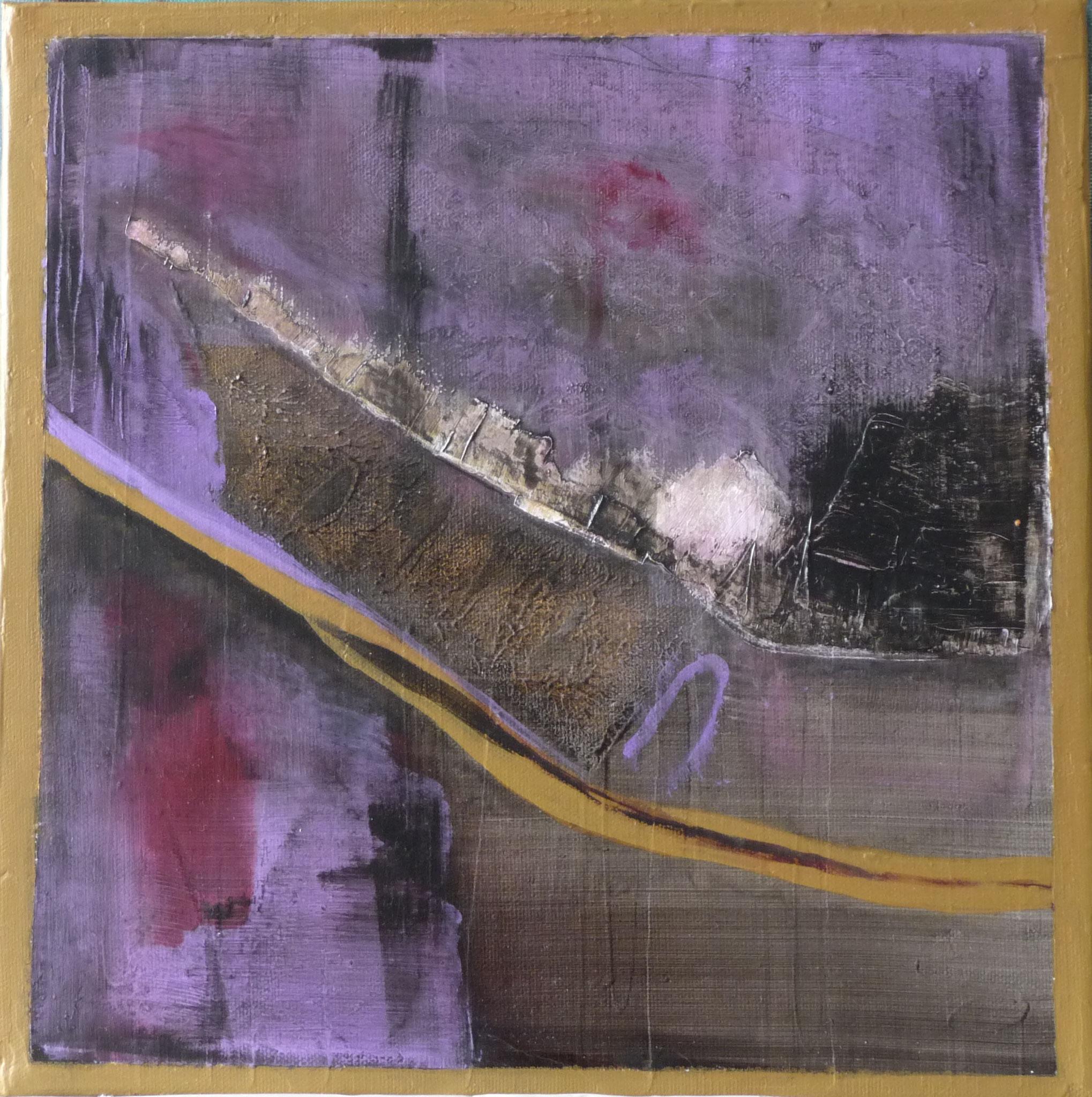 Itinéraire 2   ---   2011 - Acrylique - 30 x 30 cm