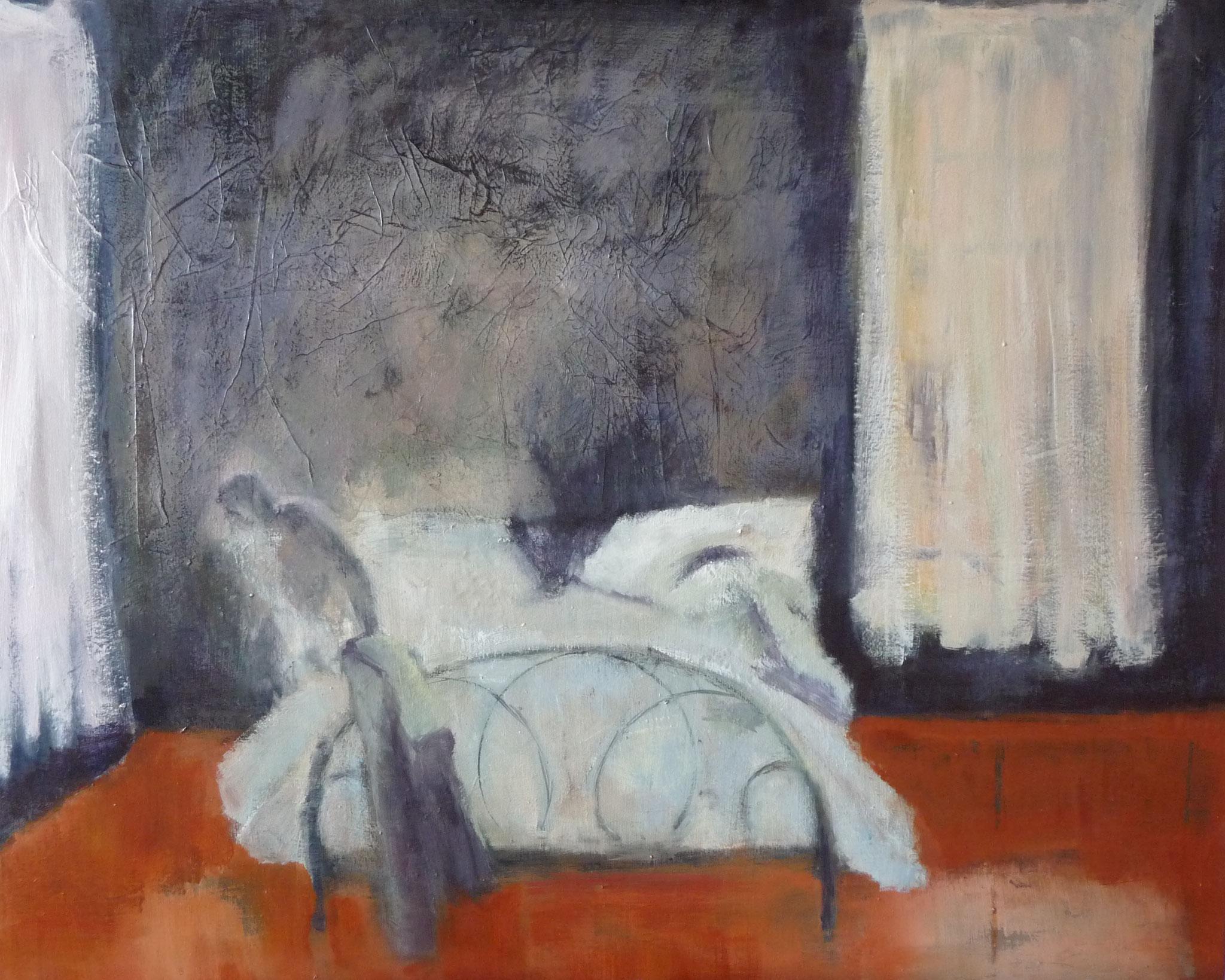 A l'aube - Hommage à Tarkovsky    ---   2012 - Acrylique sur toile - 45 x 65 cm