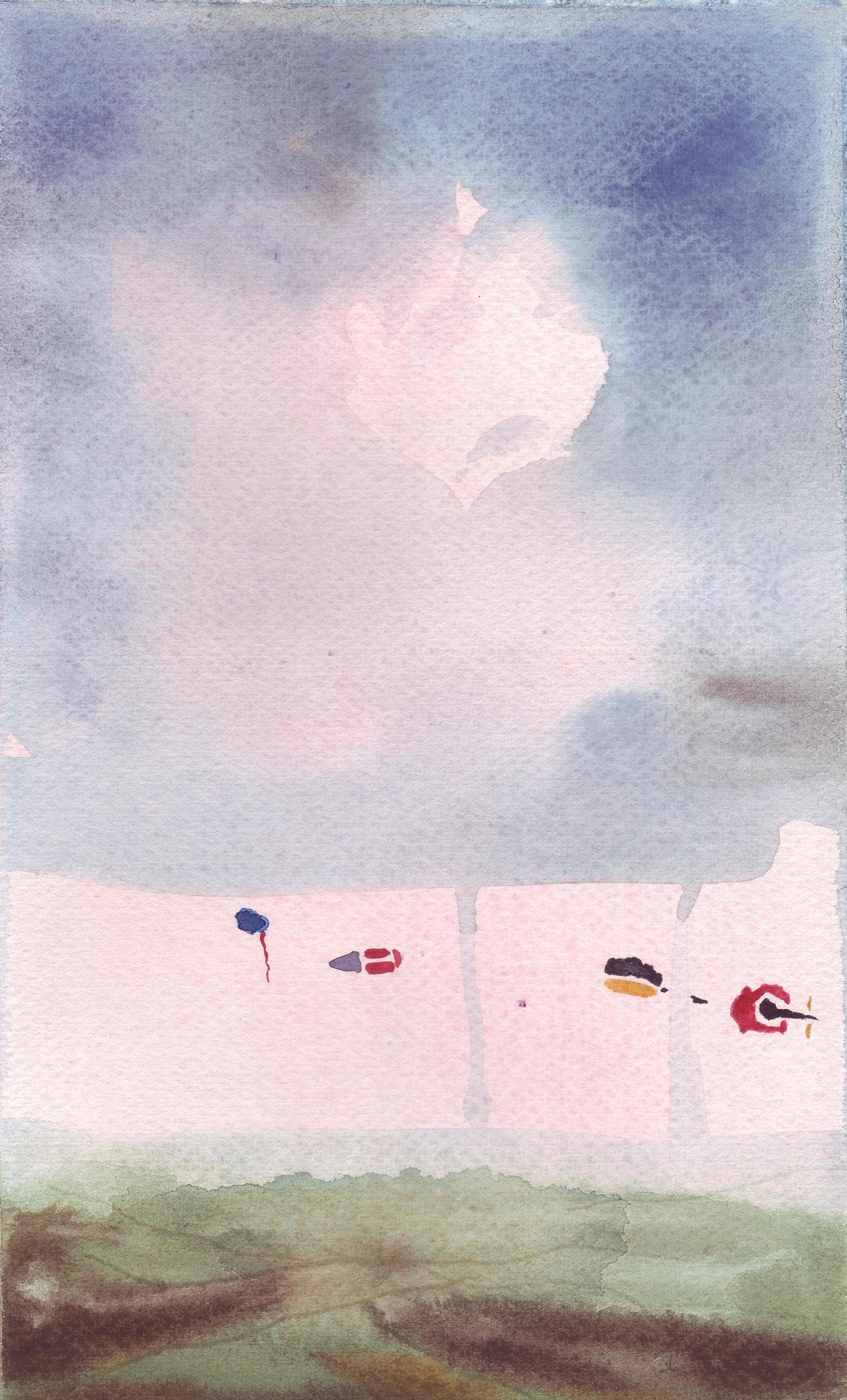 Vol aquatique 1   ---   2008 - Aquarelle - 20 x 30 cm