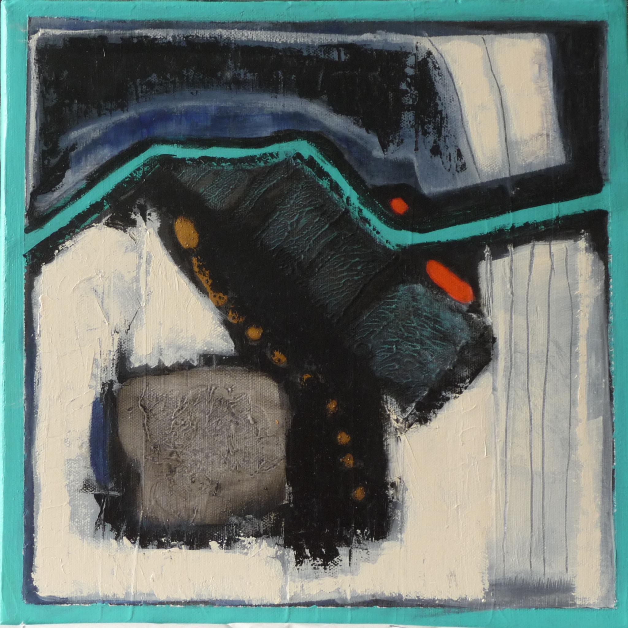 Itinéraire 3   ---   2011 - Acrylique - 30 x 30 cm