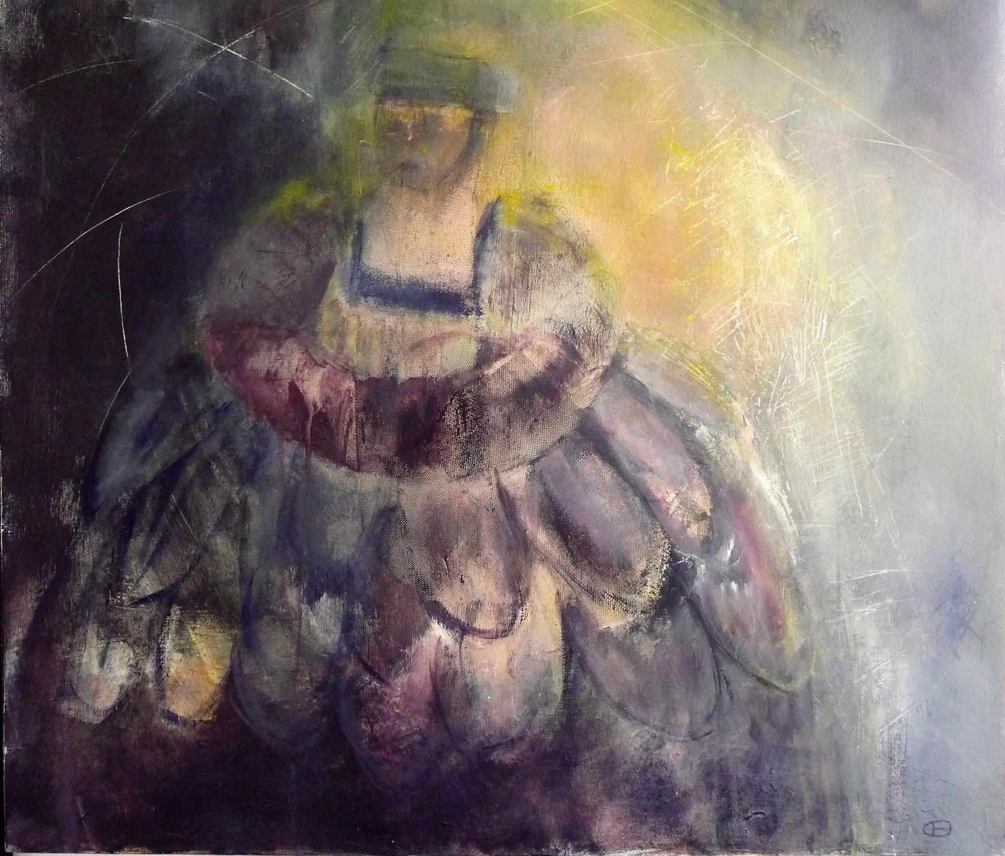La Reine de la Nuit   ---   2016 - Acrylique sur toile - 70 x 70 cm