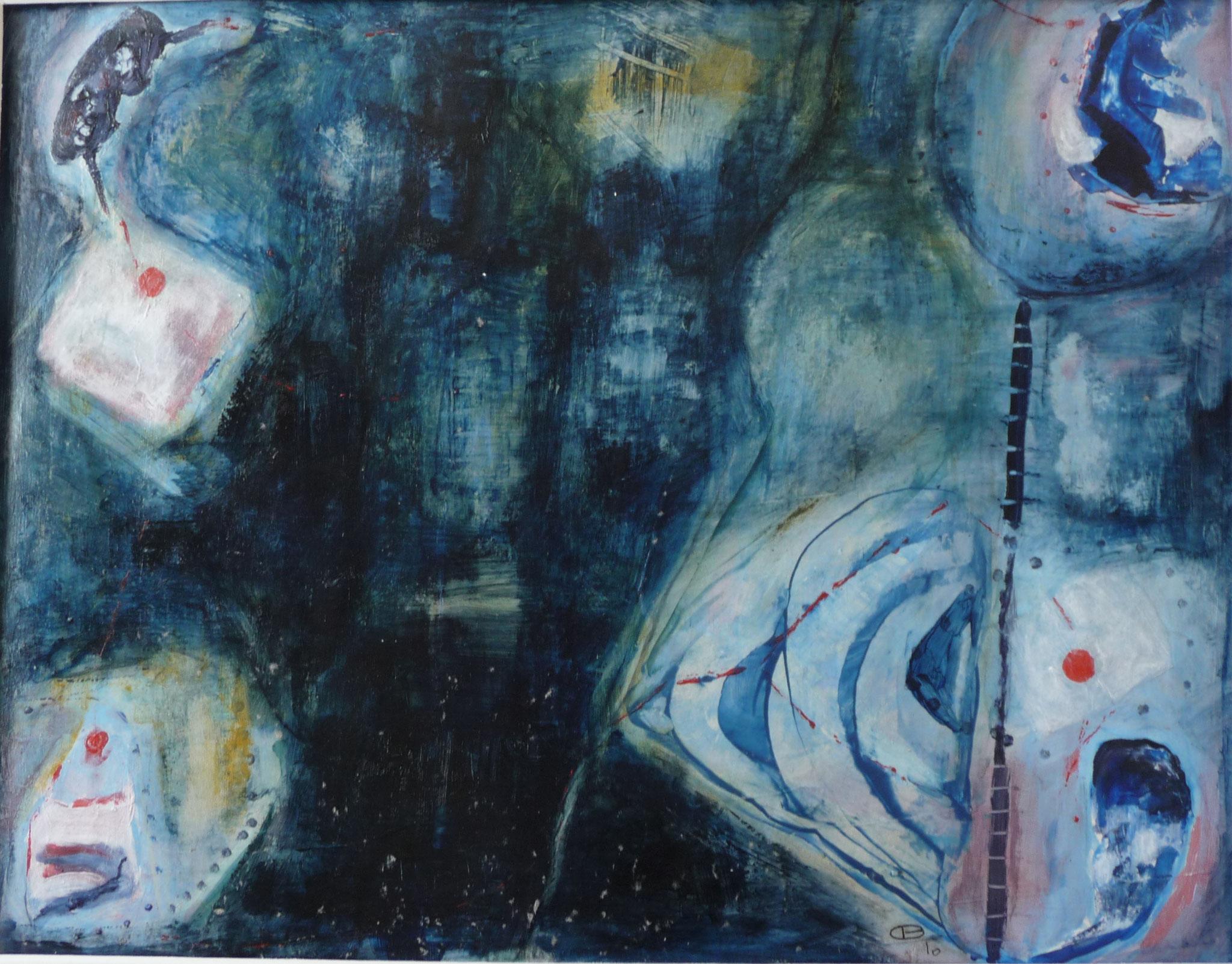 Planche de mémoire 2   ---   2010 - Acrylique - 45 x 60 cm