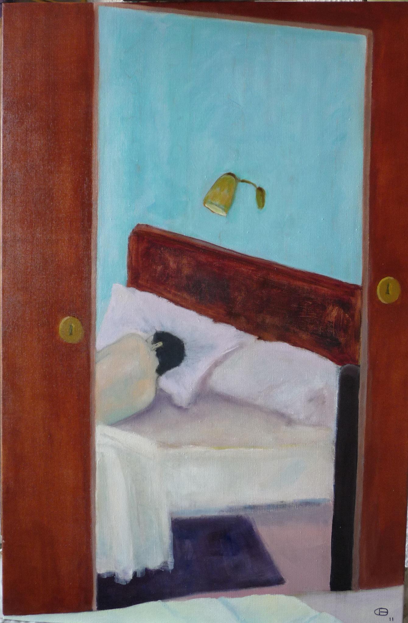 Still sleeping   ---   2011 - Acrylique sur toile - 95 x 35 cm