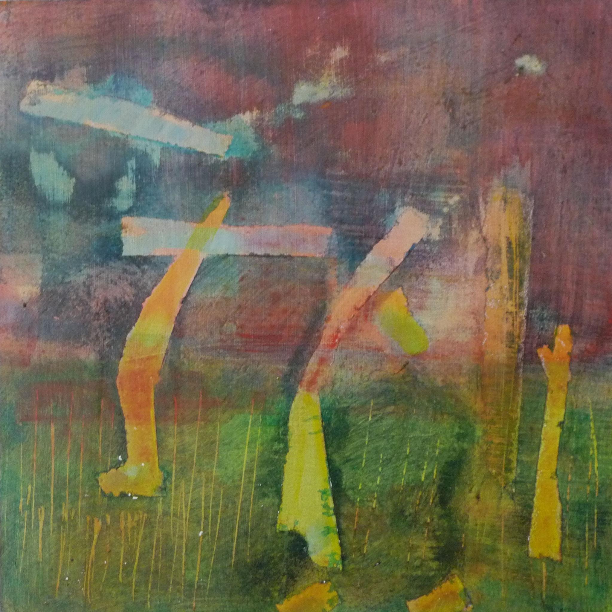 Sans titre    --- 2015 - Acrylique sur papier marouflé sur bois - 20 x 20 cm