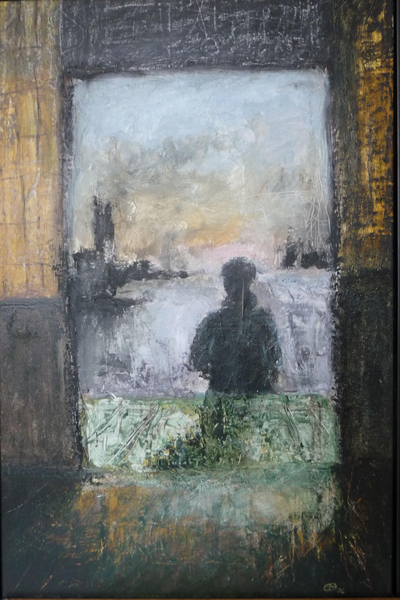 Petit matin - Hommage à Tarkovsky  ---   2006 - Acrylique sur toile - 100 x 65 cm