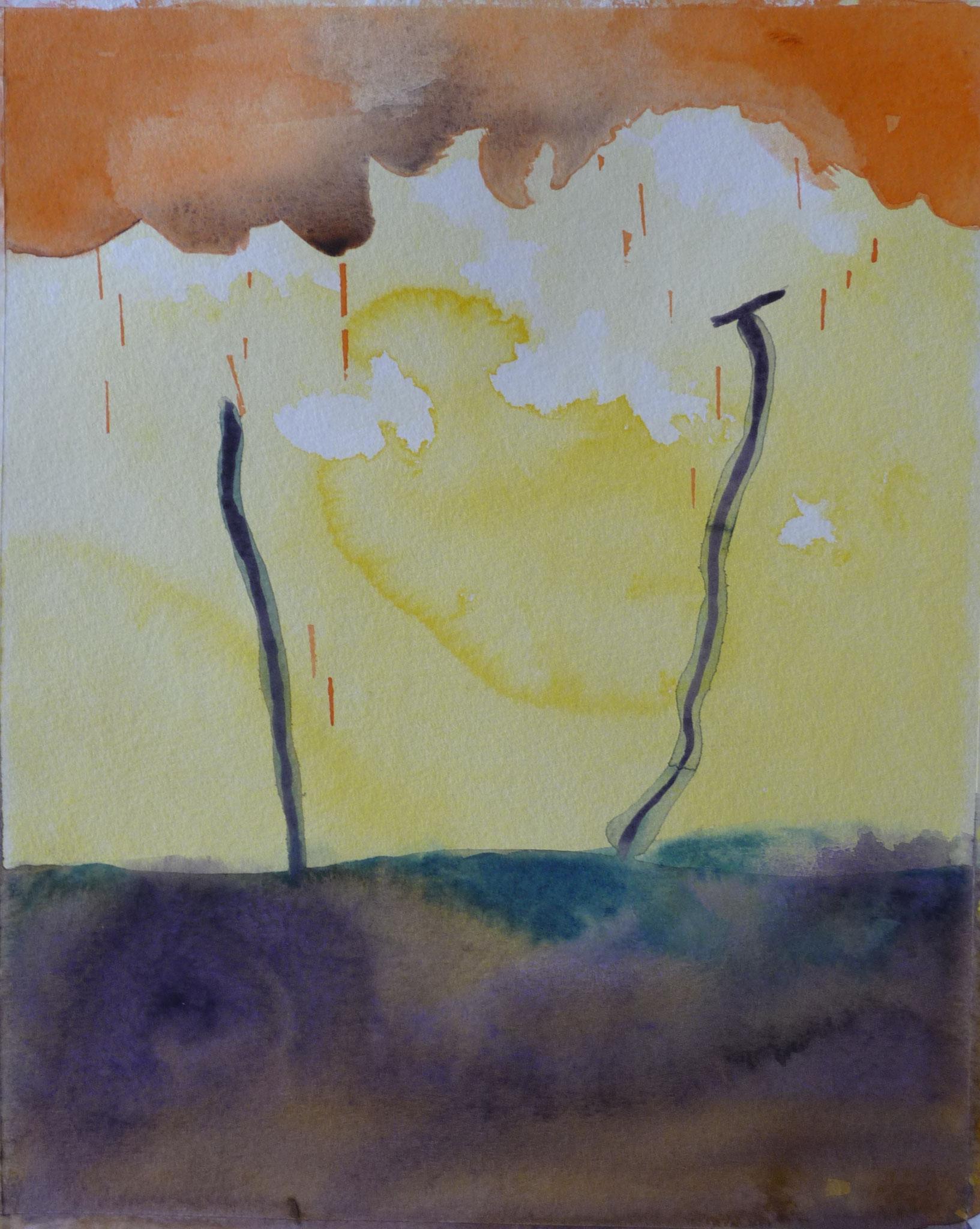 Drôme 6   ---   2011 - Aquarelle - 20 x 30 cm