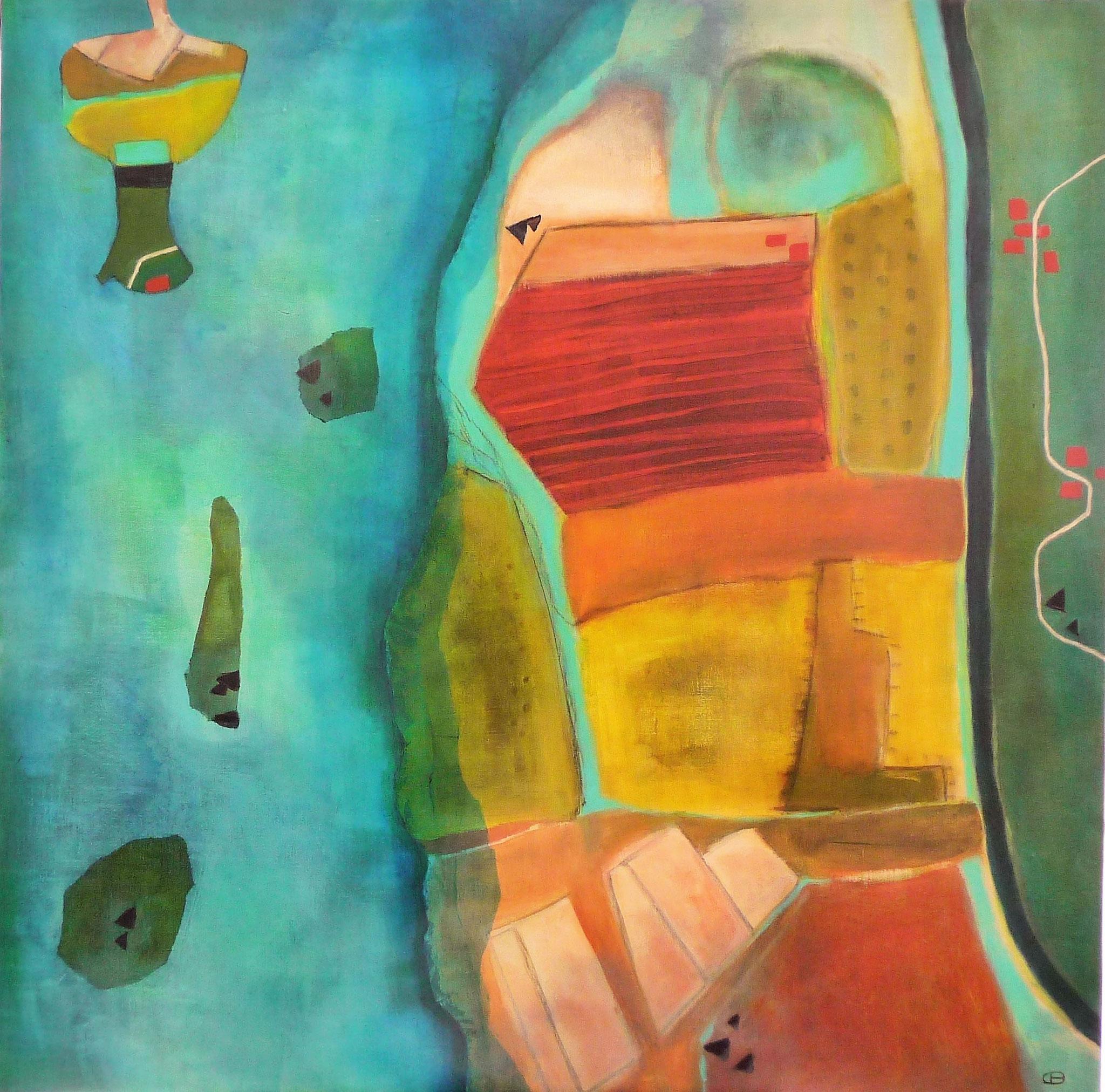 Trois marées - 2018 - acrylique sur toile - 100 x 100