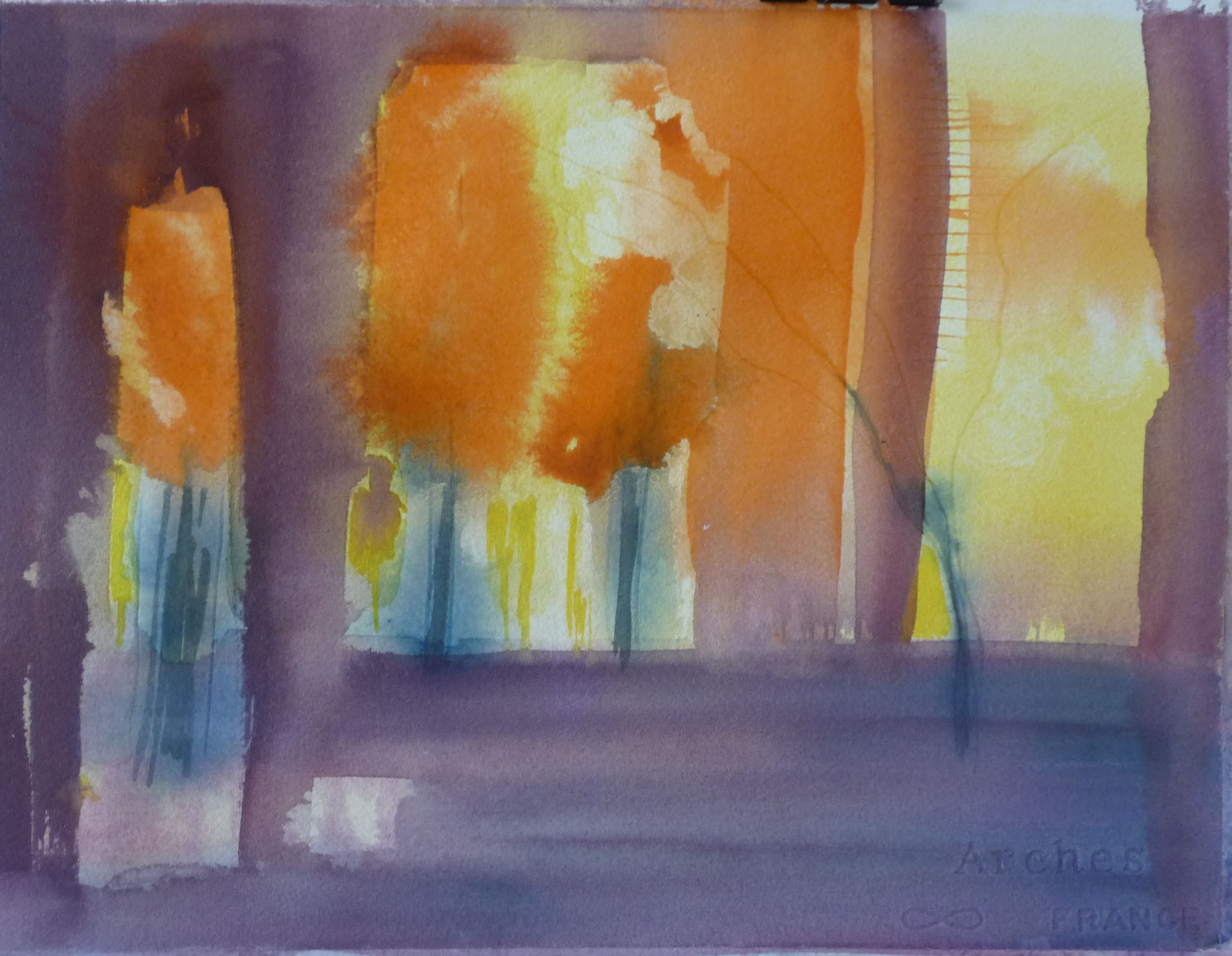 Drôme   ---   2011 - Aquarelle - 30 x 20 cm