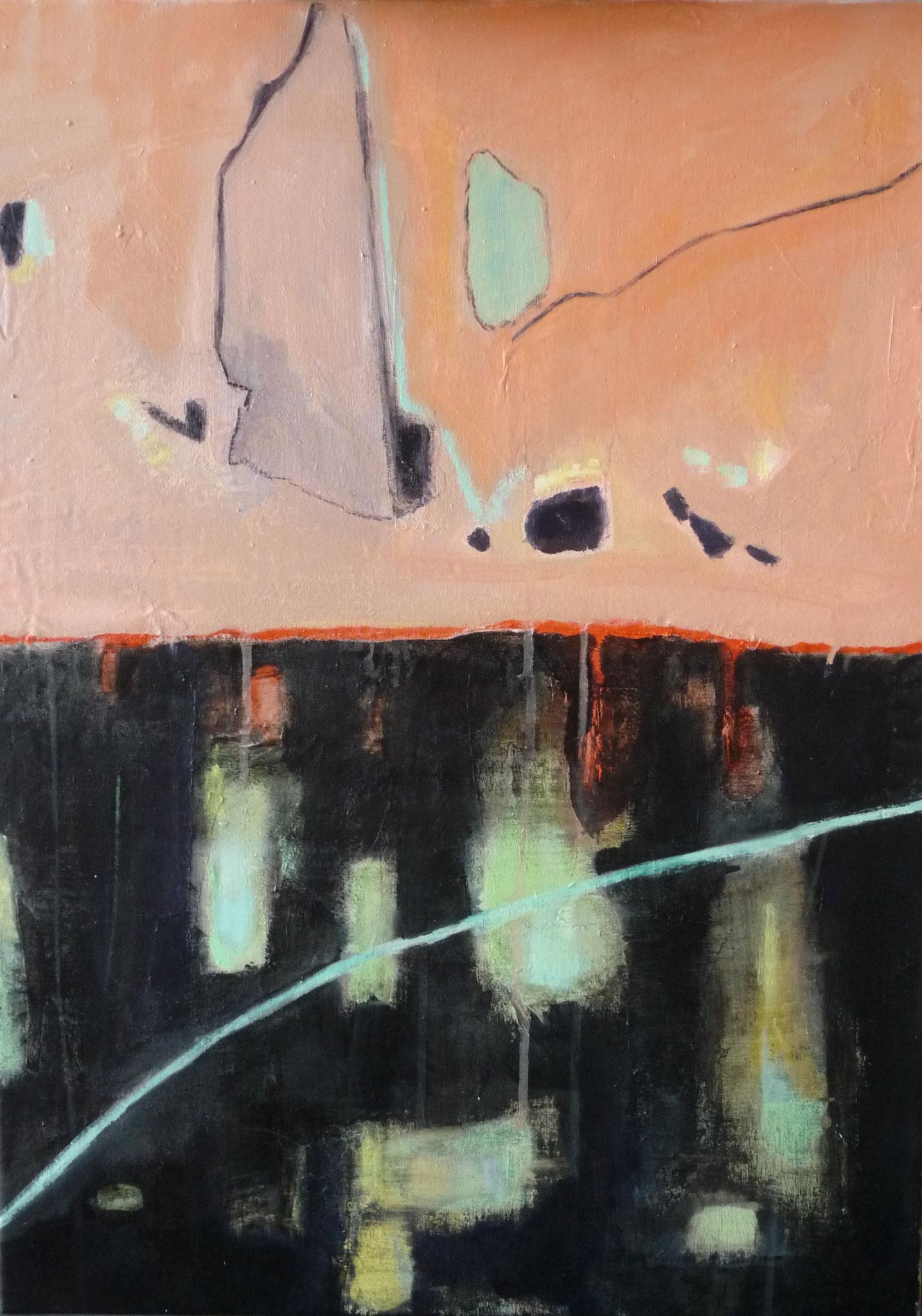 Chemin de vie   ---   2011 - Acrylique - 60 x 45 cm