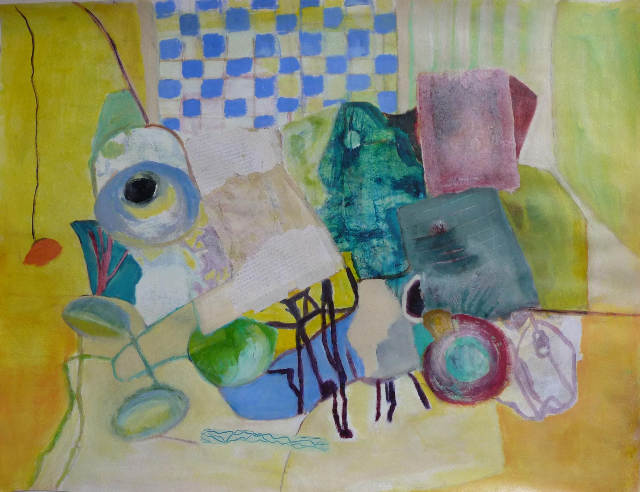 Still Life   ---   2017 - Acrylique sur papier - 50 x 70 cm