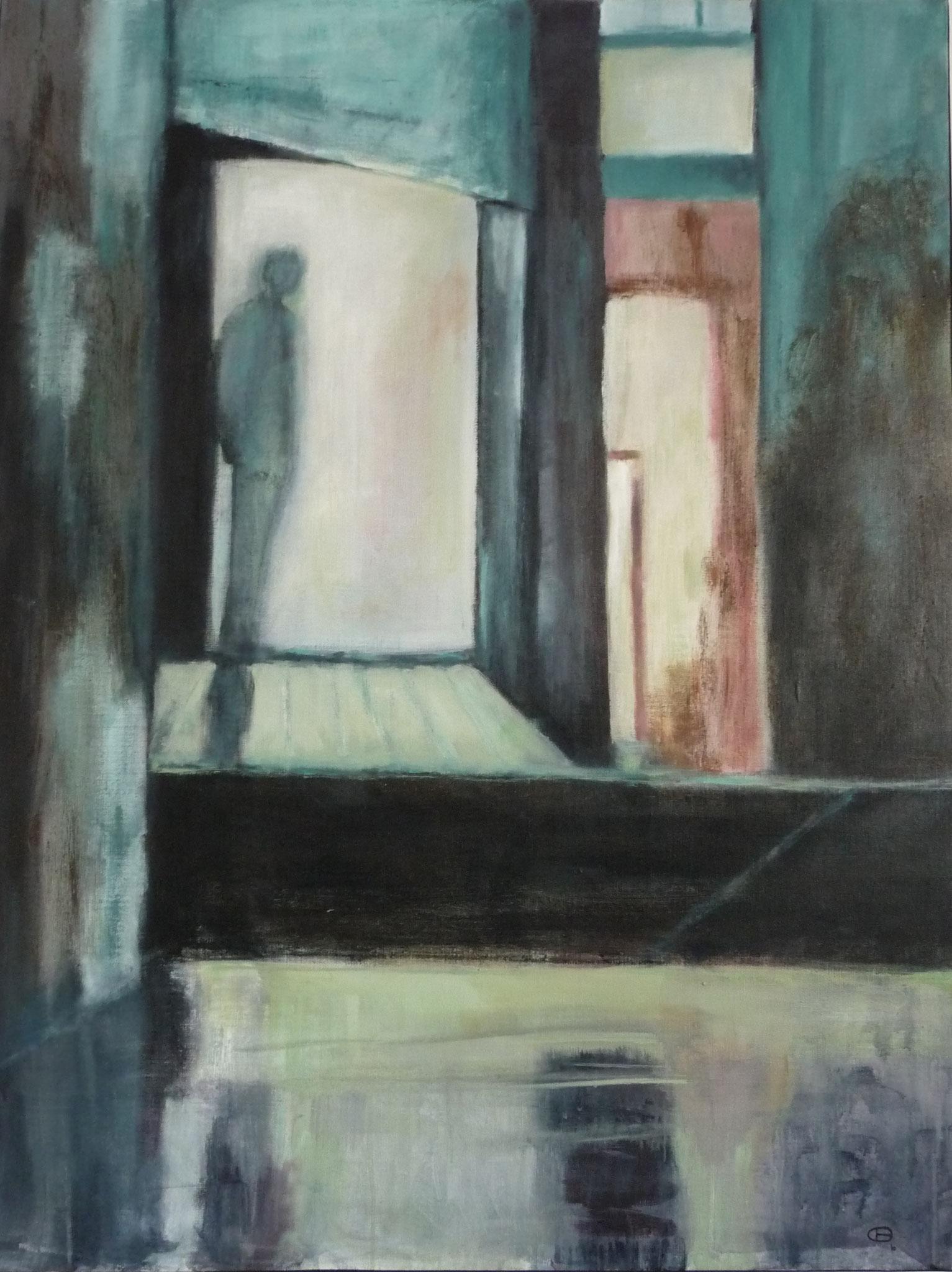 Le passage - Hommage à Tarkovsky   ---   2010 - Acrylique sur toile - 100 x 75 cm
