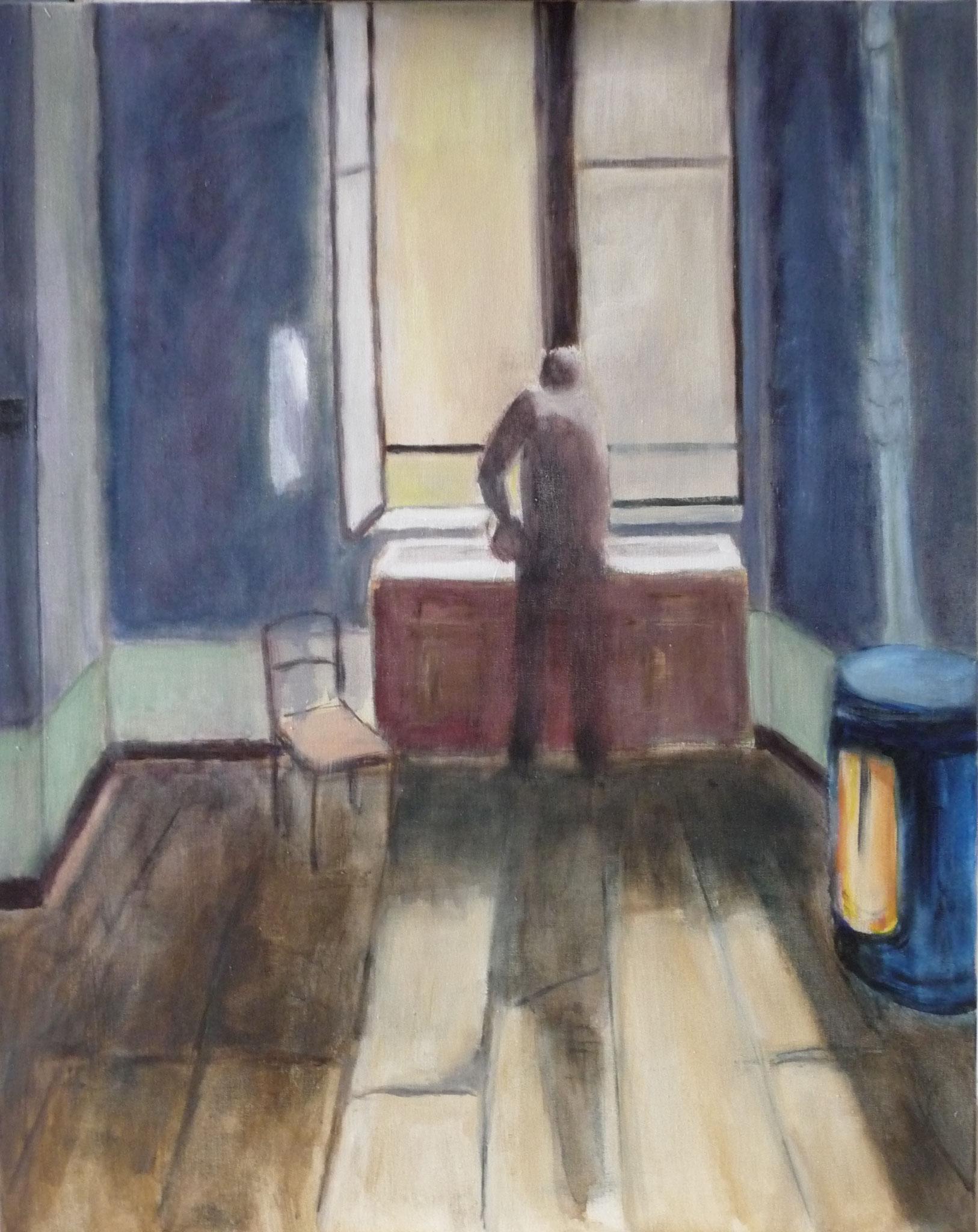 Petit matin 2 - Hommage à Tarkovsky   ---   2012 - Acrylique sur toile - 81 x 65 cm