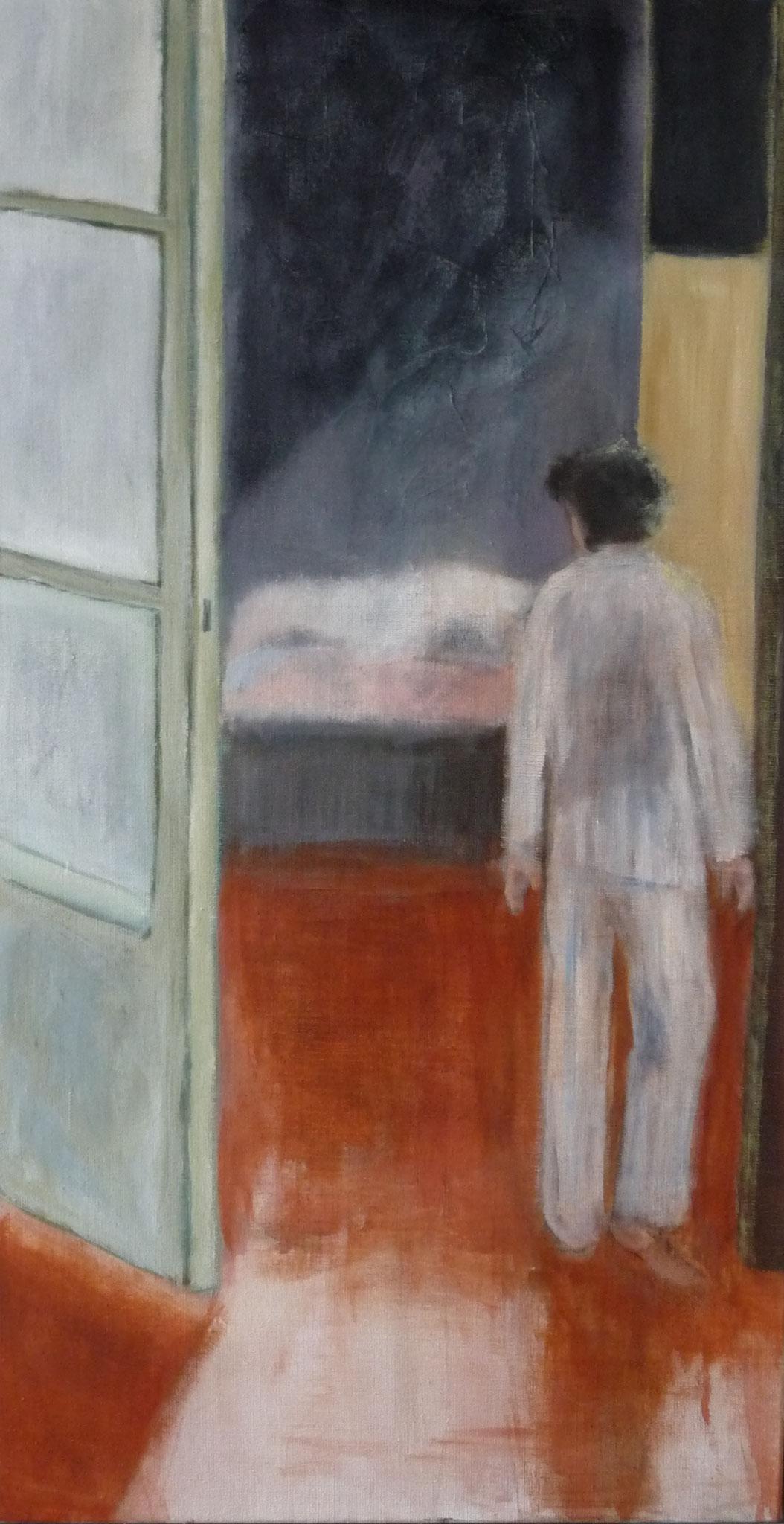 Indiscrétion ----   2012 - Acrylique sur toile - 96 x 50 cm