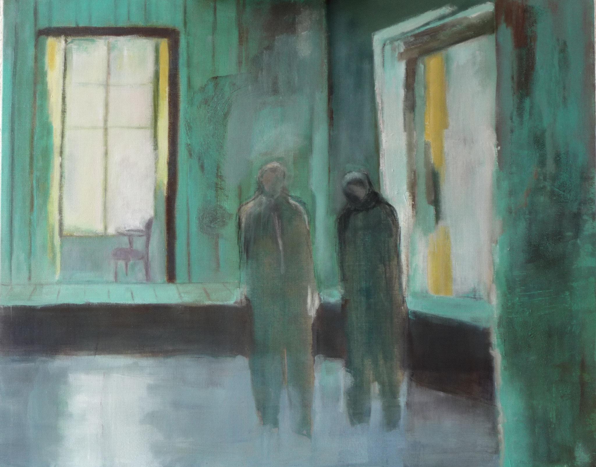 Stalker - Hommage à Tarkovsky   ---   2011 - Acrylique sur toile - 65 x 100 cm